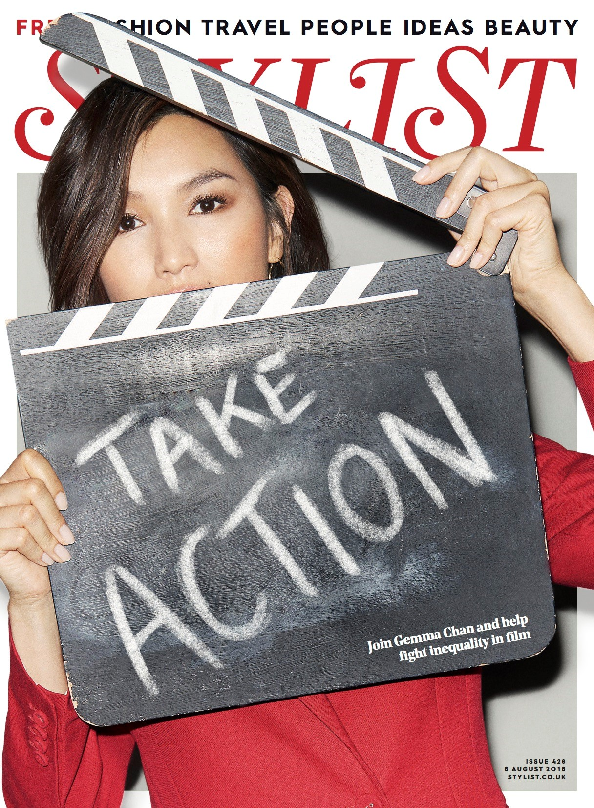 Gemma Chan on the cover of Stylist magazine (Stylist)