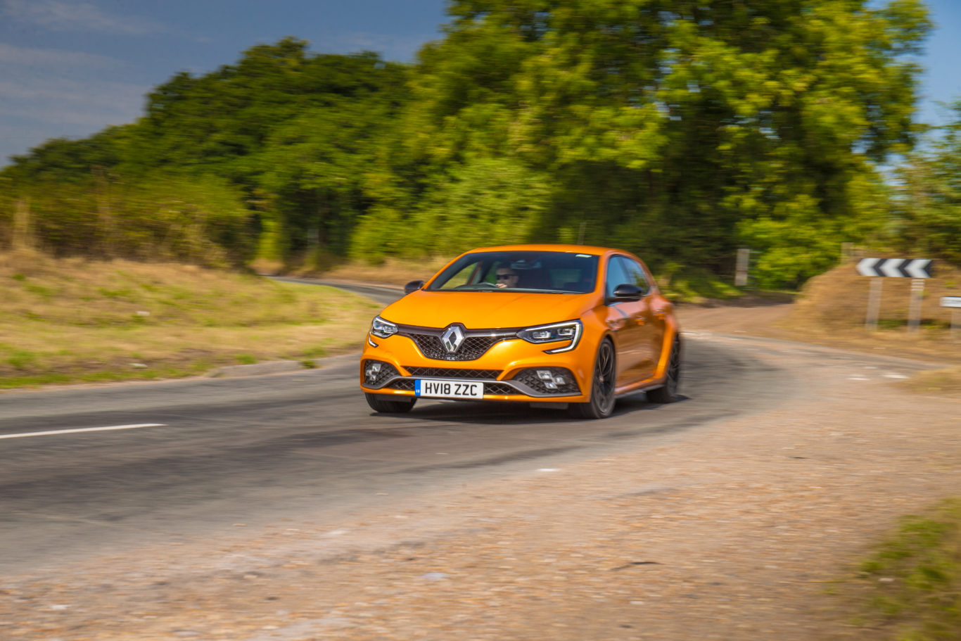 The Megane's all-wheel-steer system aids cornering