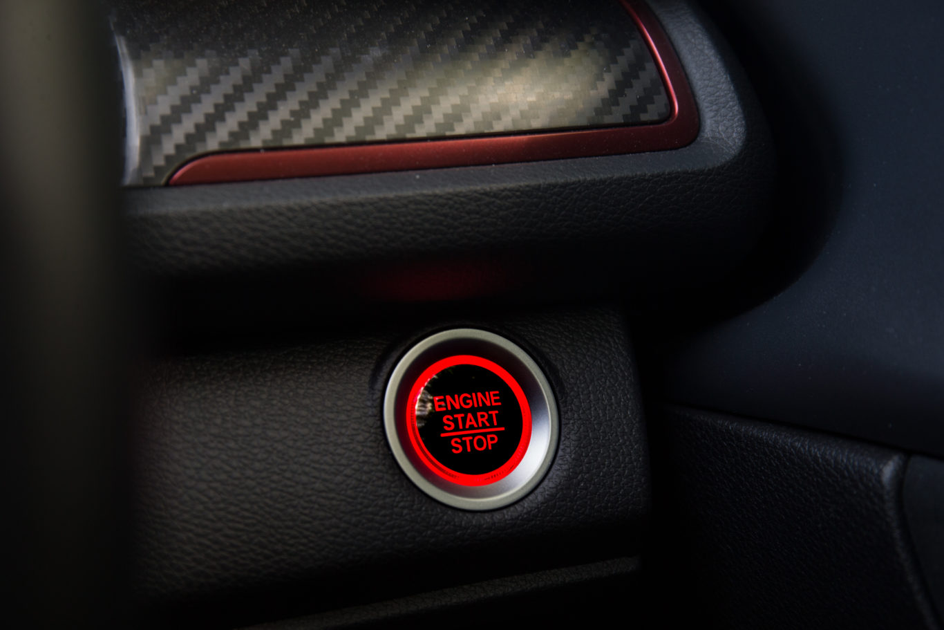 A large starter buttons gets thing going in the Type R