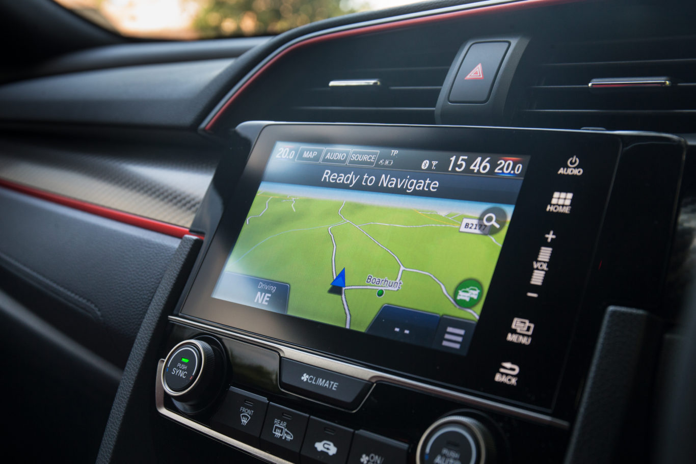 The Honda's infotainment system lacks the ease-of-use that we expect