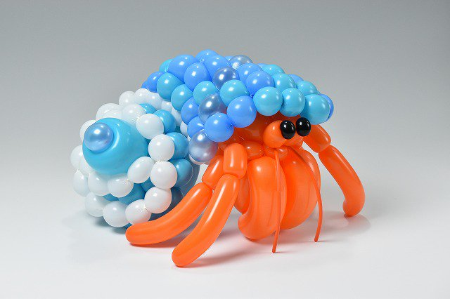 A hermit crab made by Masayoshi