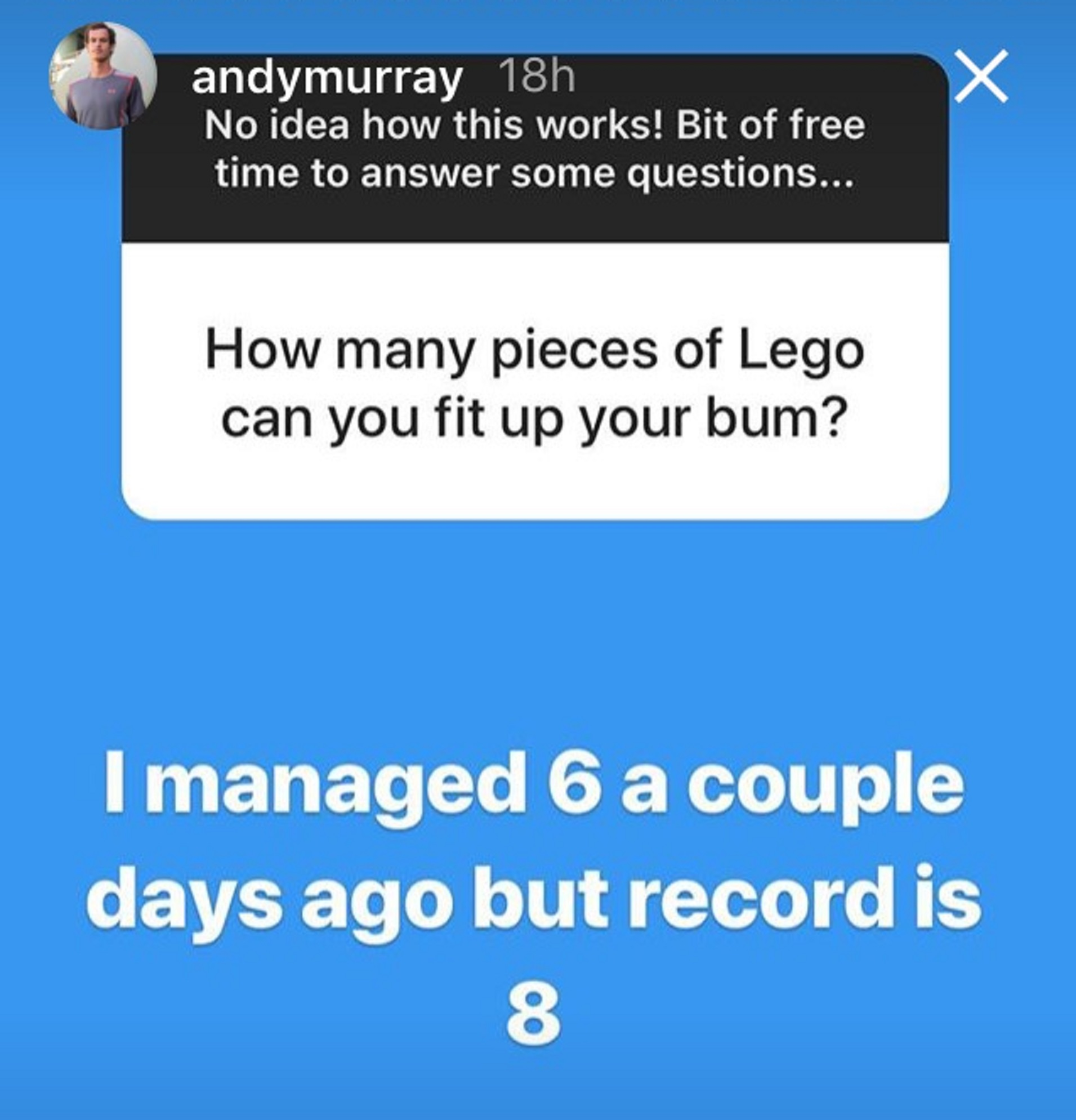 Andy Murray answers questions on his Instagram Story