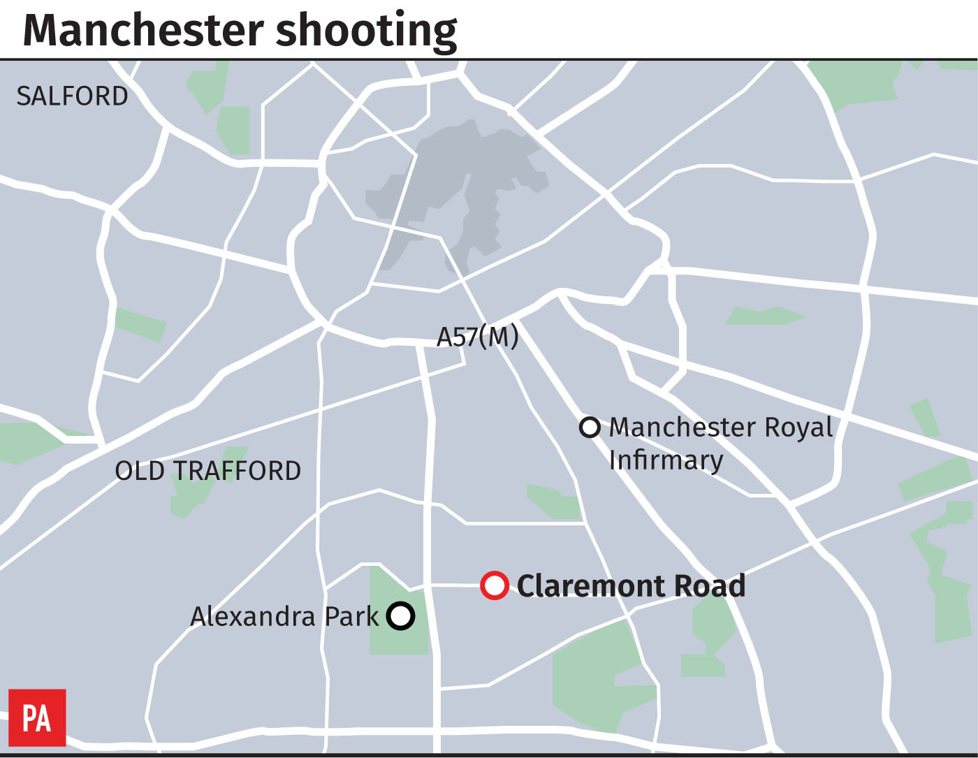 Manchester police say 10 people hospitalized after shooting