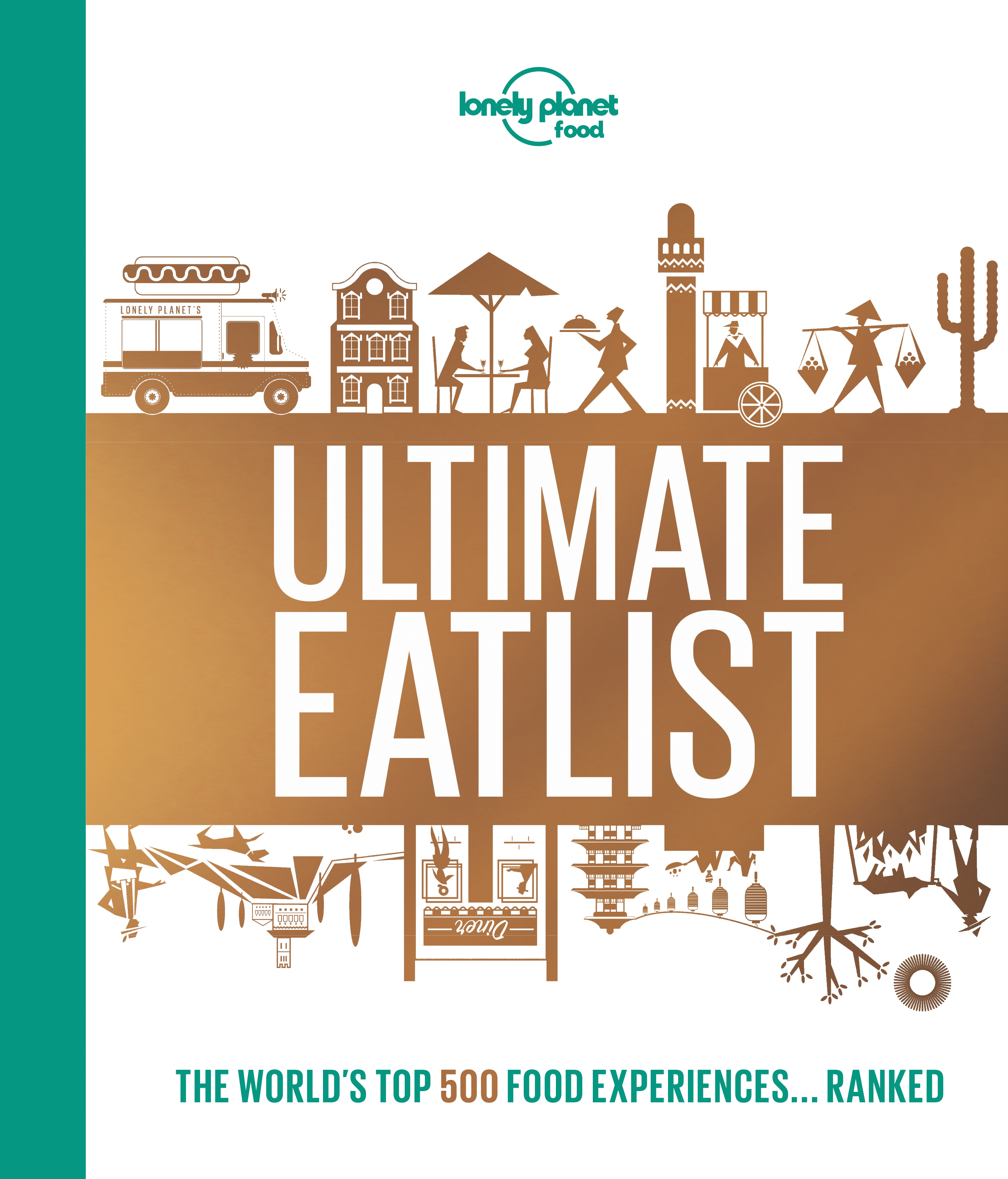 Book sleeve for Ultimate Eatlist (Lonely Planet/PA)