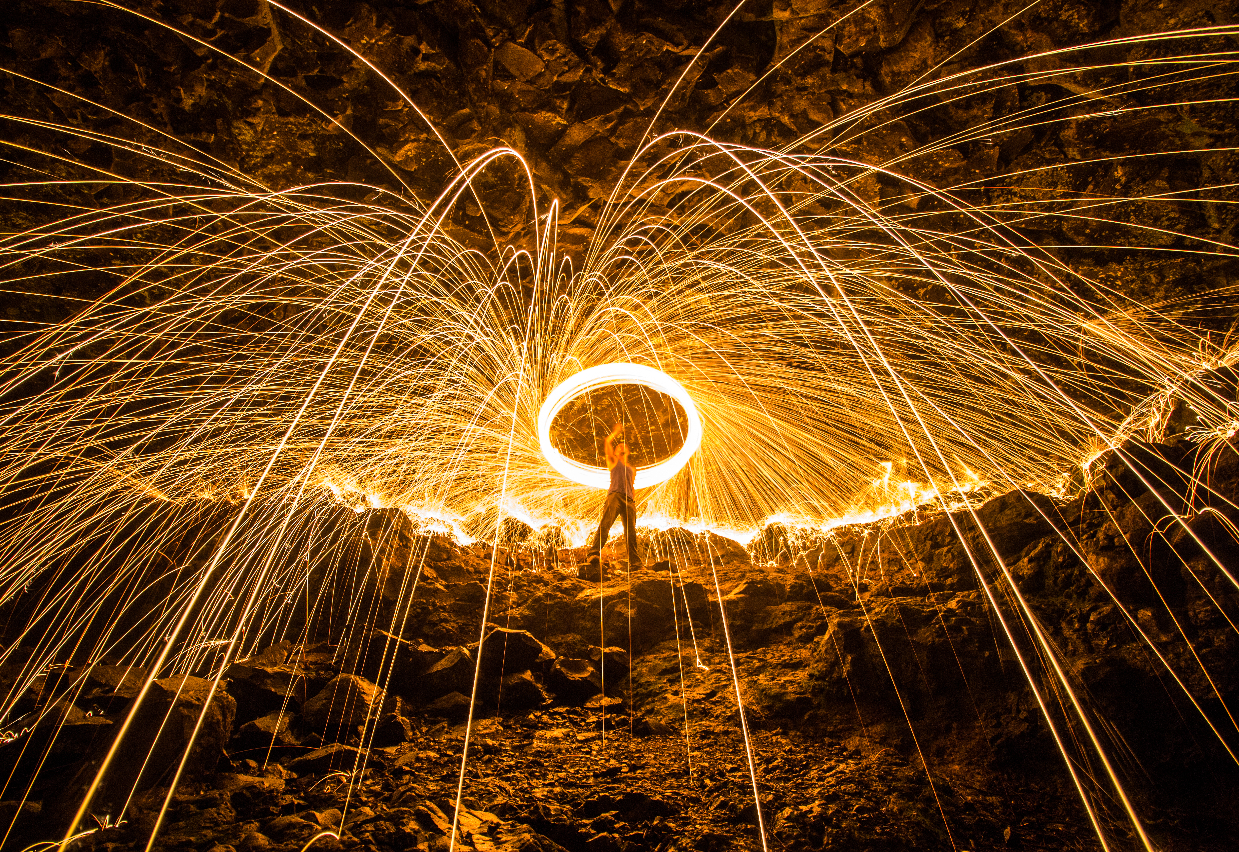 Another of Rod's pieces with wire wool