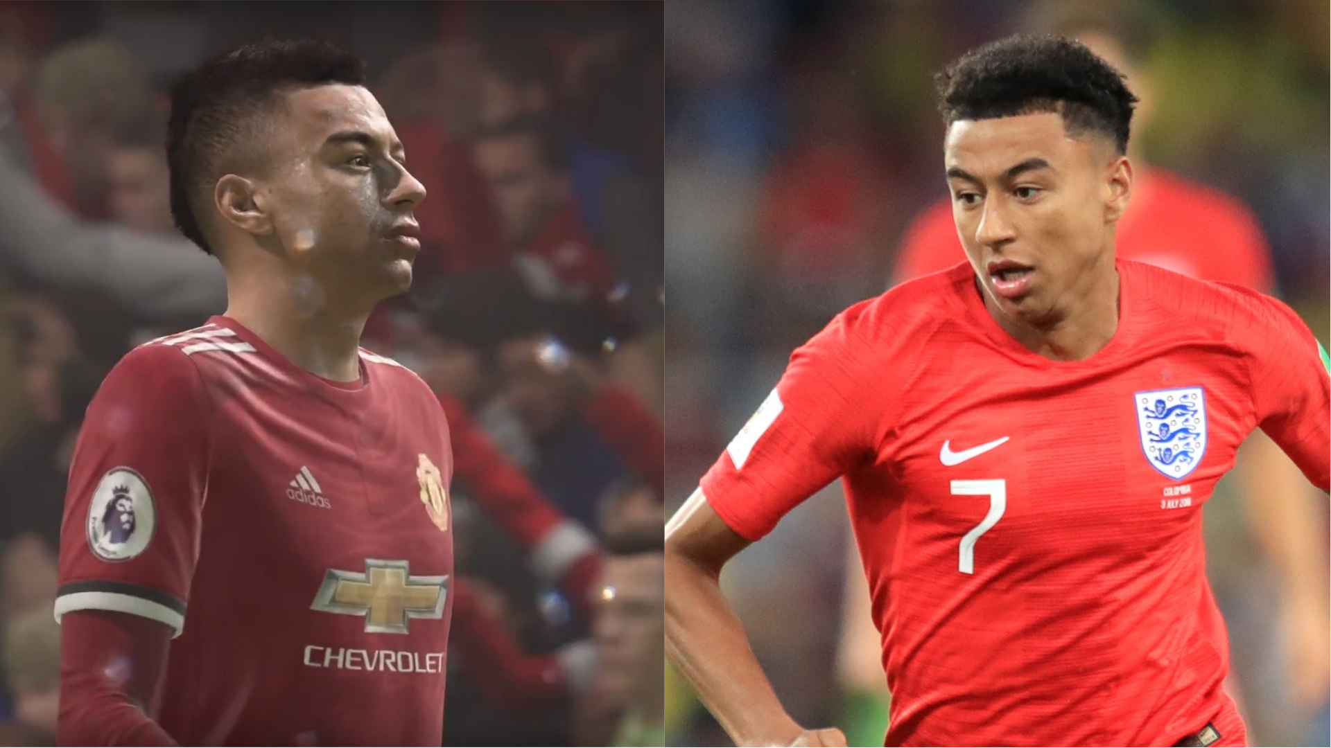 Manchester United midfielder Jesse Lingard on Fifa 18 and in real life