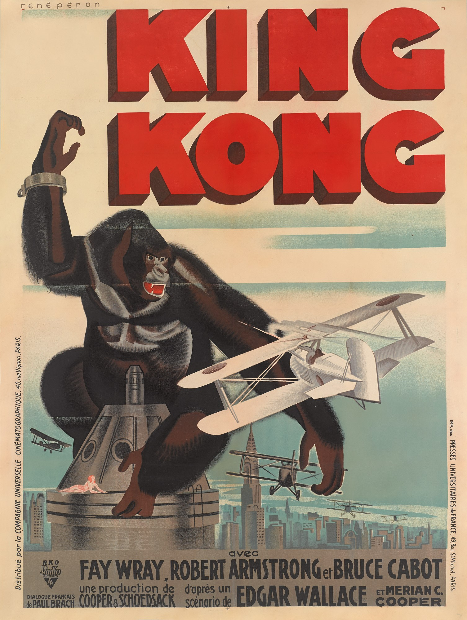 A King Kong poster previously sold for £42,000, more than twice the estimate (Sotheby's)