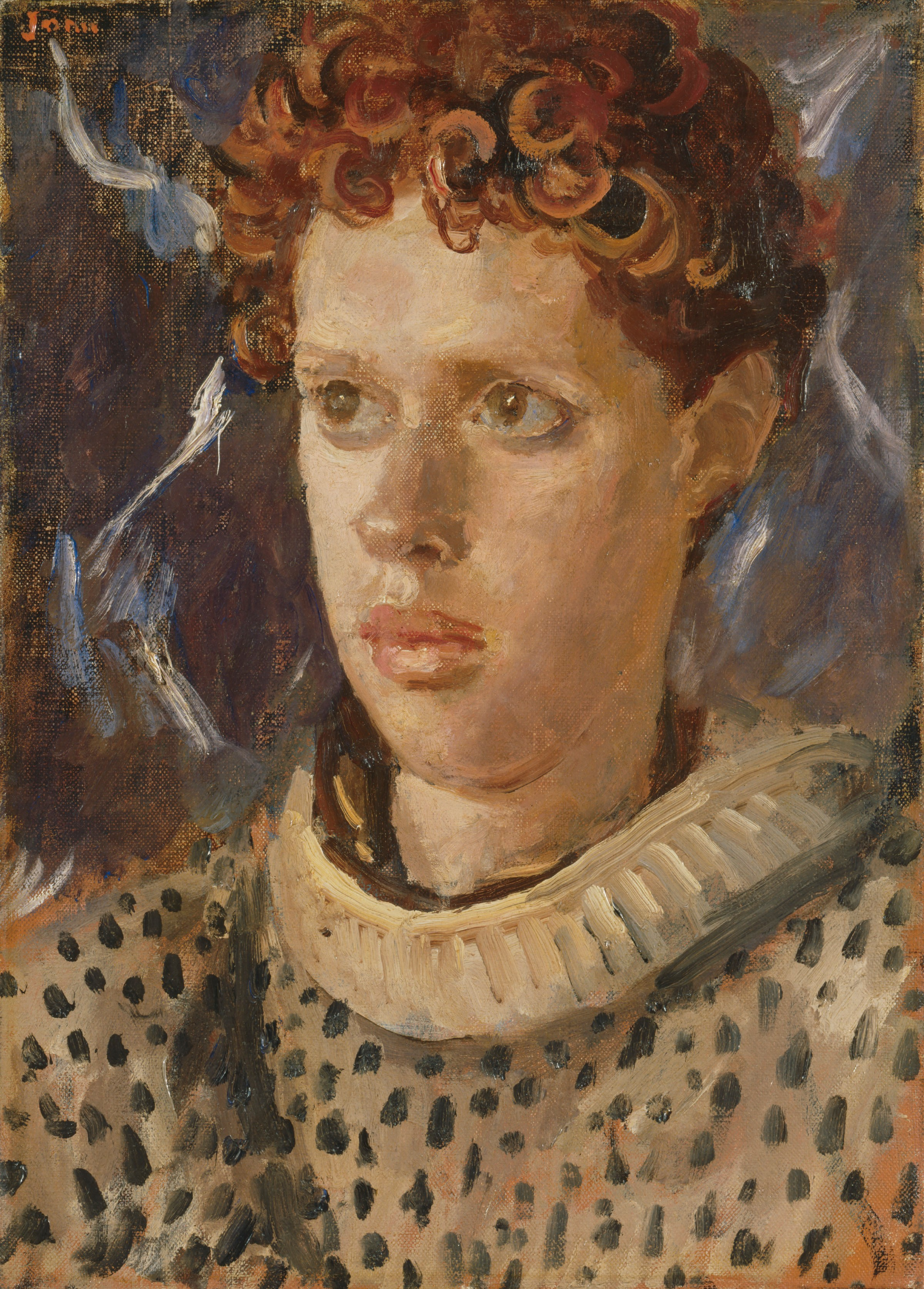 A portrait of Dylan Thomas by August John (National Portrait Gallery)