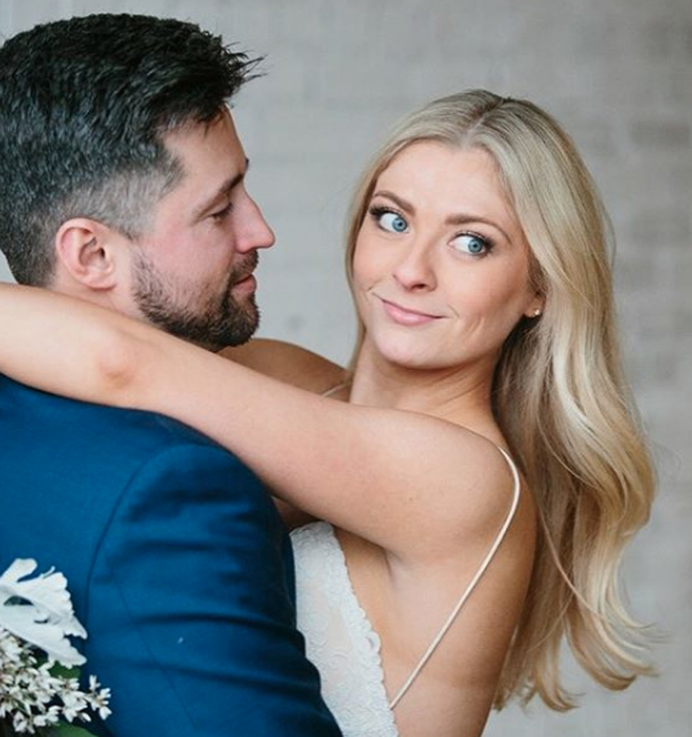 Kayla Cummings and husband Griffin Cummings on their wedding day