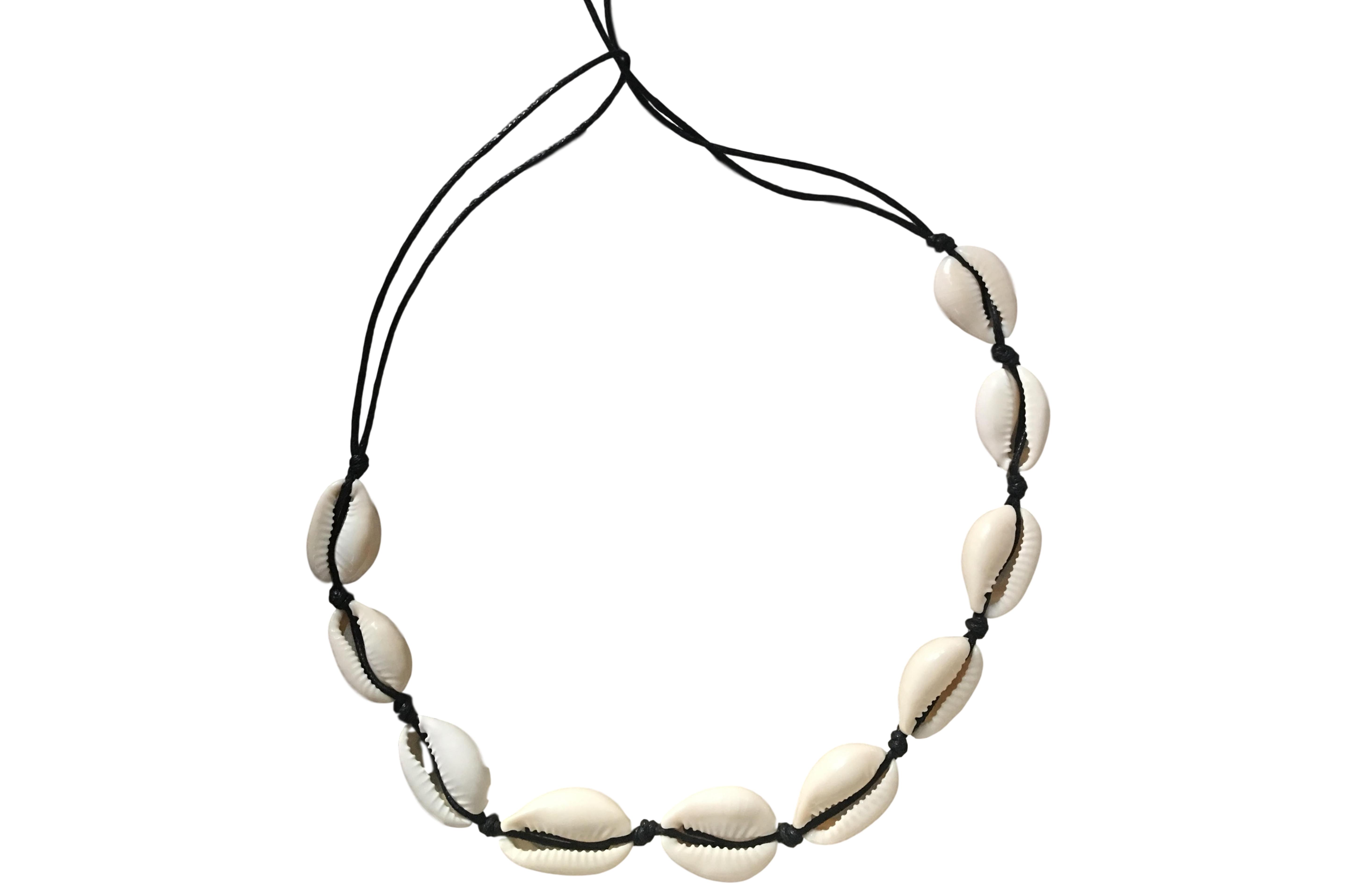 Bikind Cowrie Sea Shell Choker Necklace