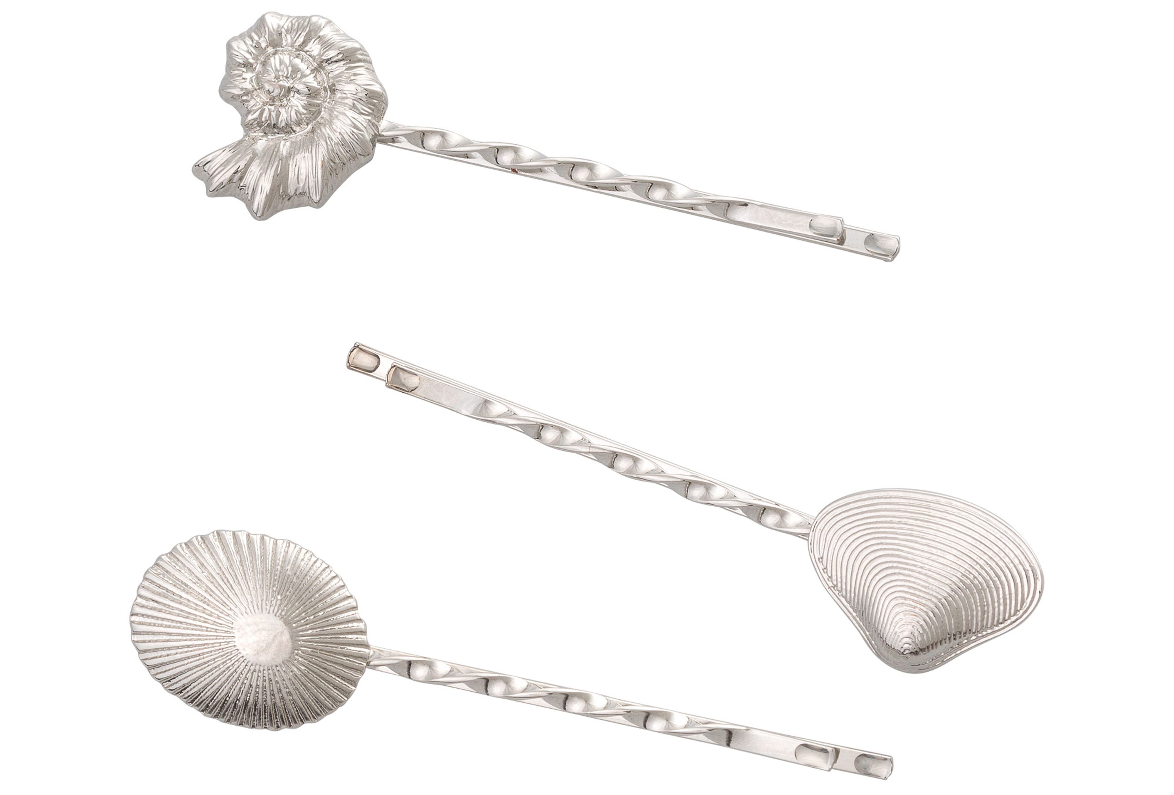 Oliver Bonas Shell Shapes Hair Grips Set Of Three