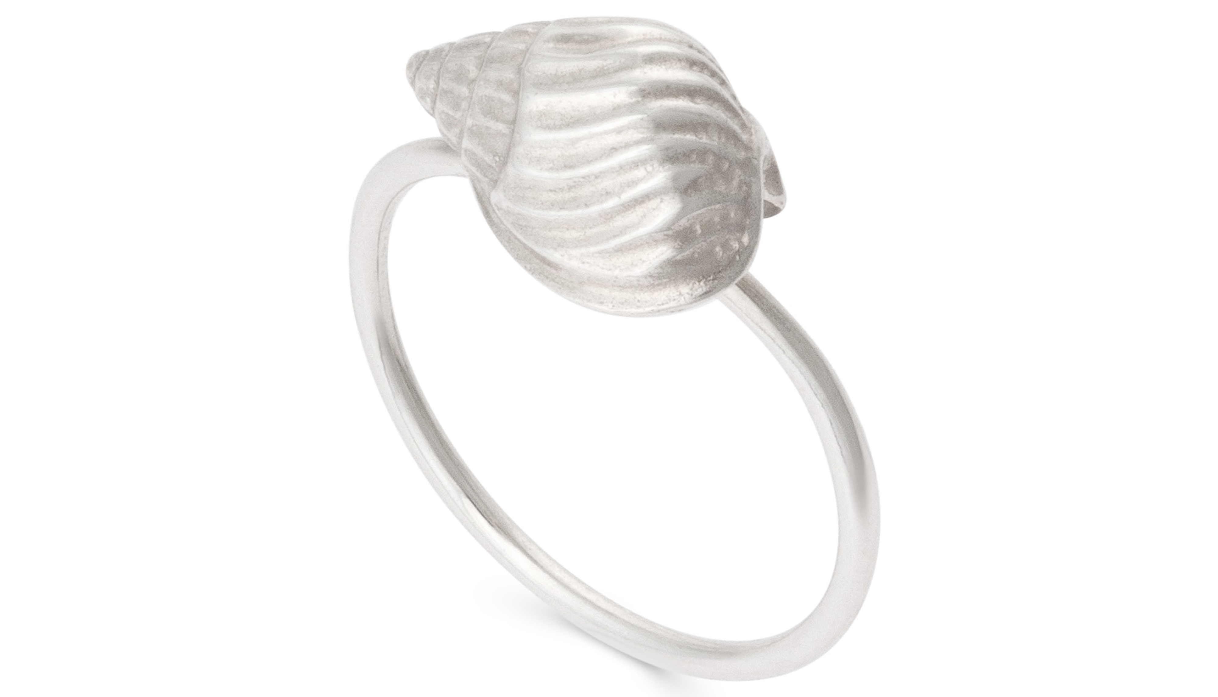 Oliver Bonas Conch Shell Silver Ring