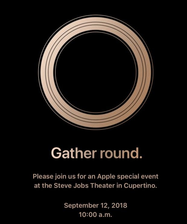 Apple teaser for its next product launch event.