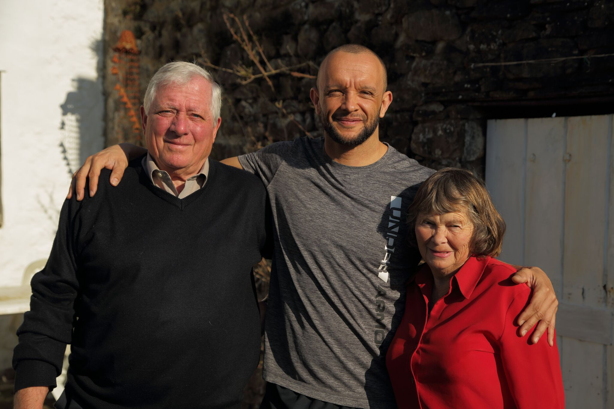 Jamie Baulch and his parents