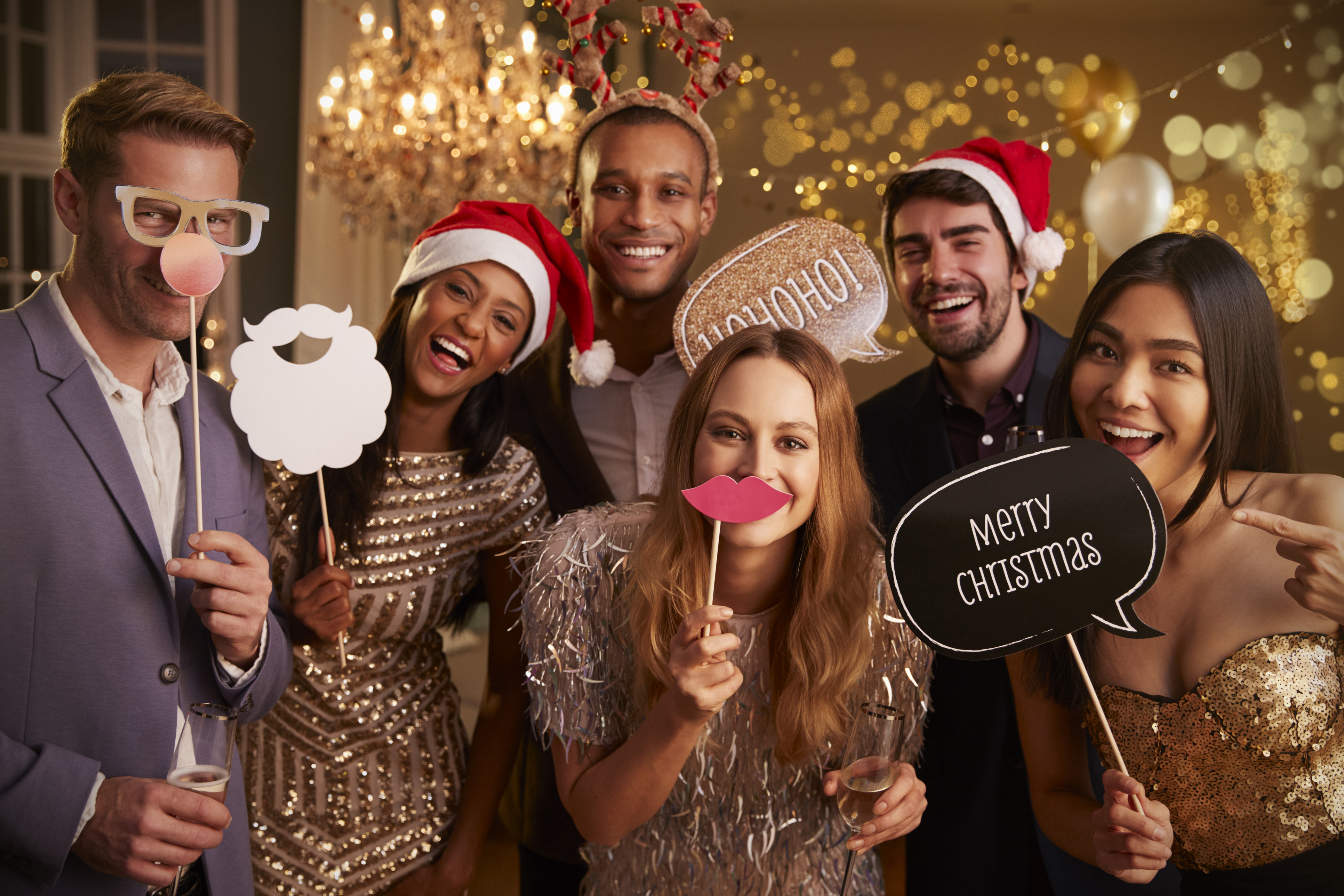 Friends gather for the Christmas party (Thinkstock/PA)