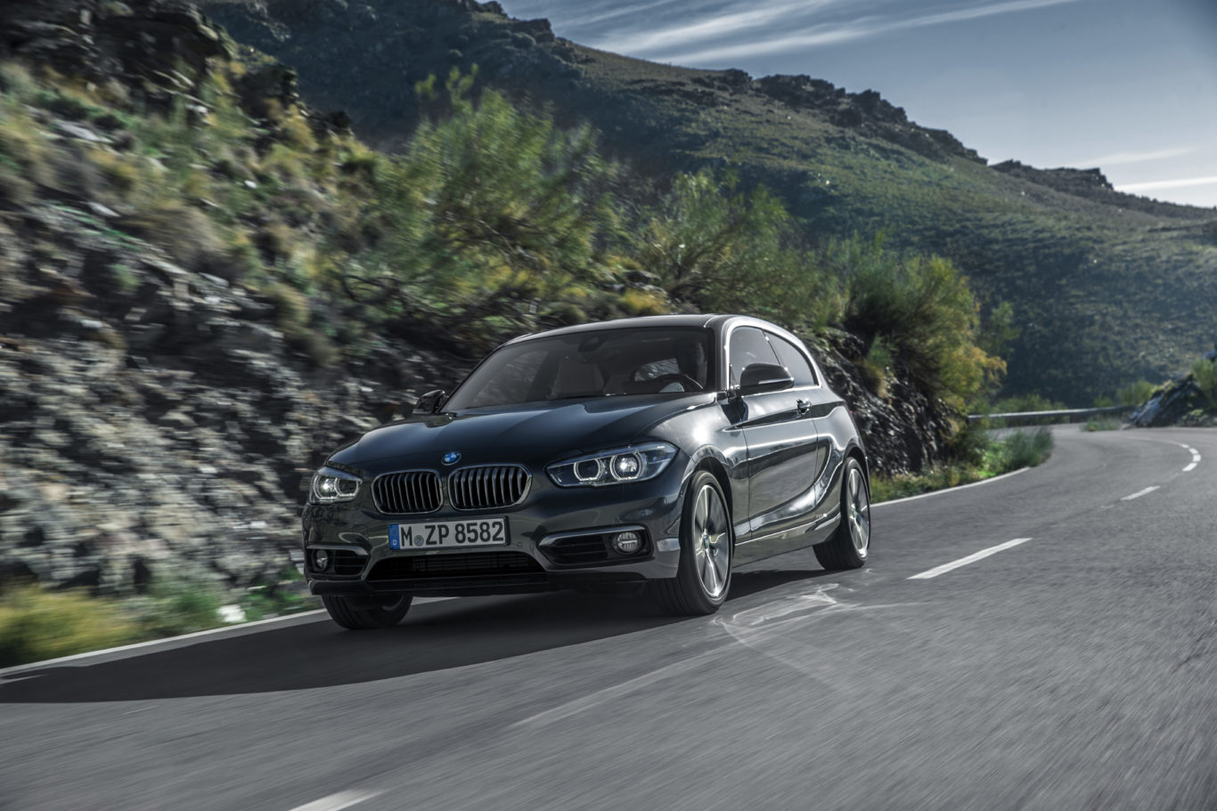 The latest 1 Series has many trademark BMW styling touches
