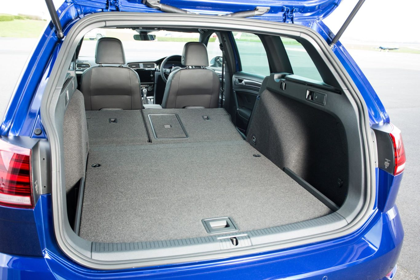 The Golf R Estate's boot is usefully large