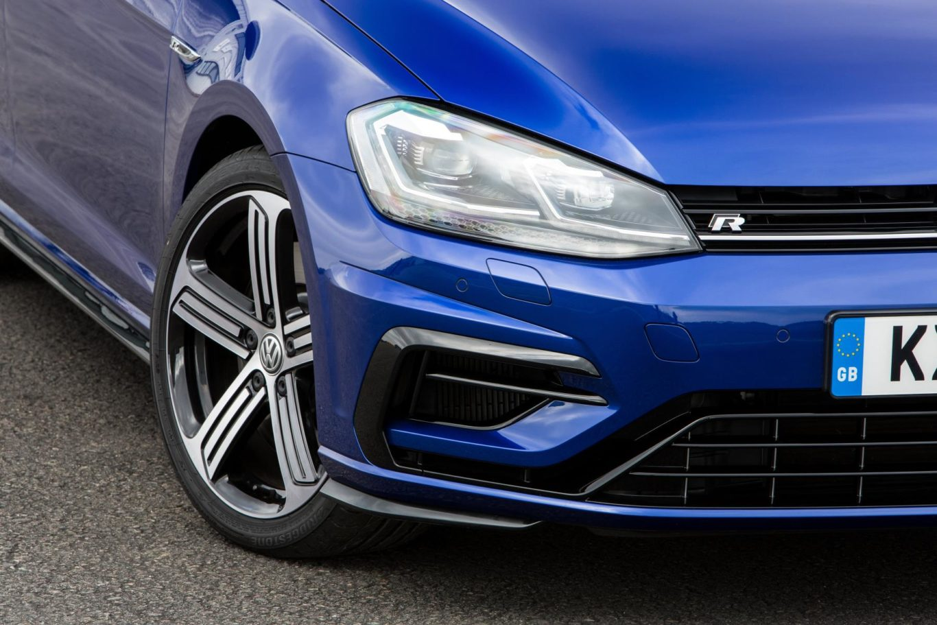 The Golf R sits on 18-inch alloy wheels as standard, though 19-inch versions are available as an optional extra