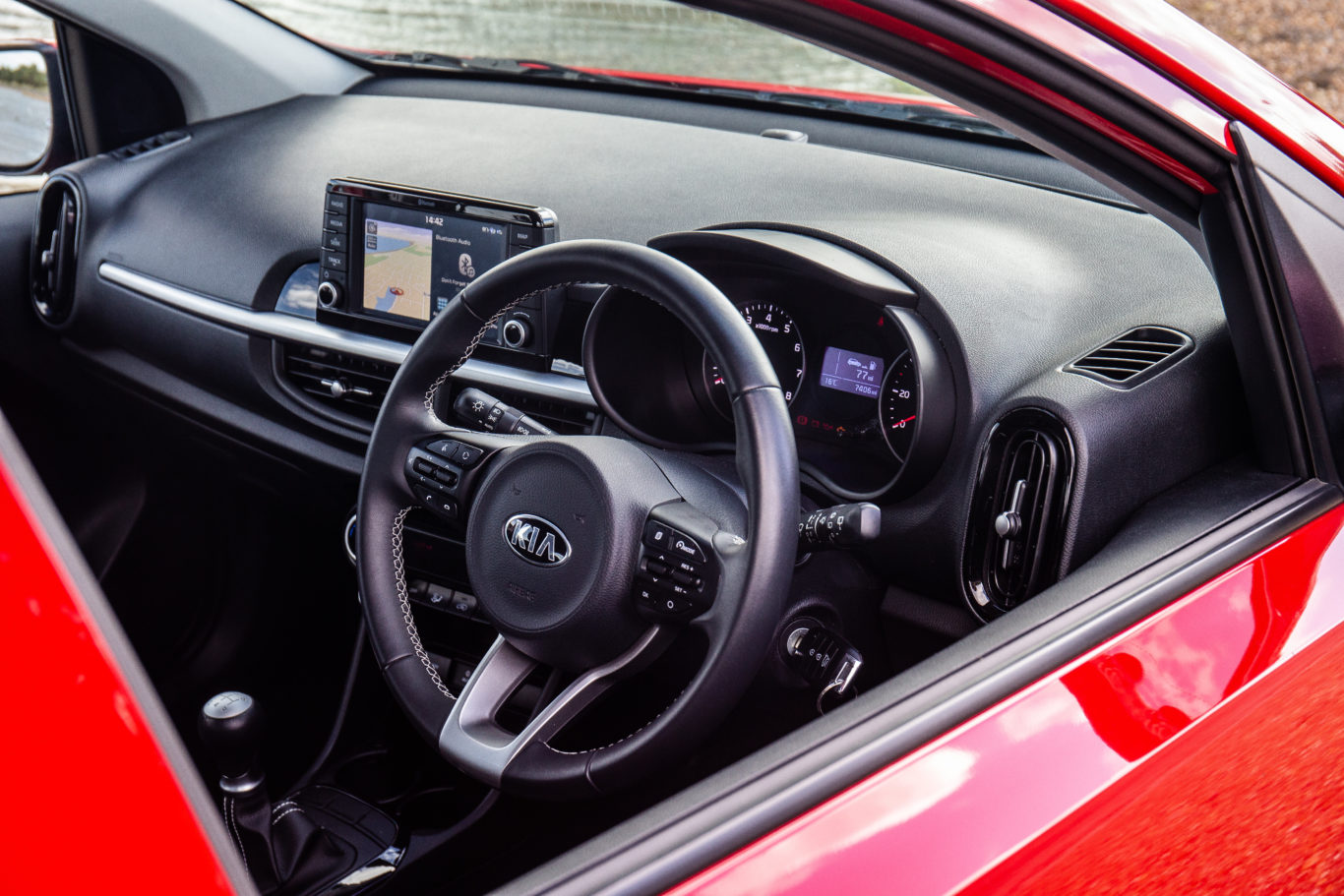 The interior of the Picanto is solidly made