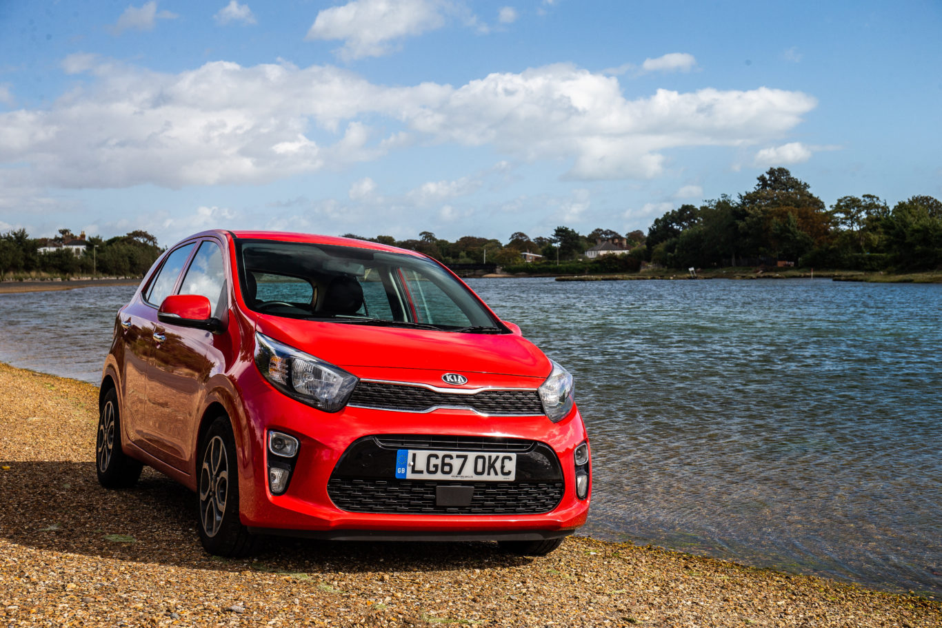 Kia's 'Tiger Nose' grille is prominent at the front of the Picanto