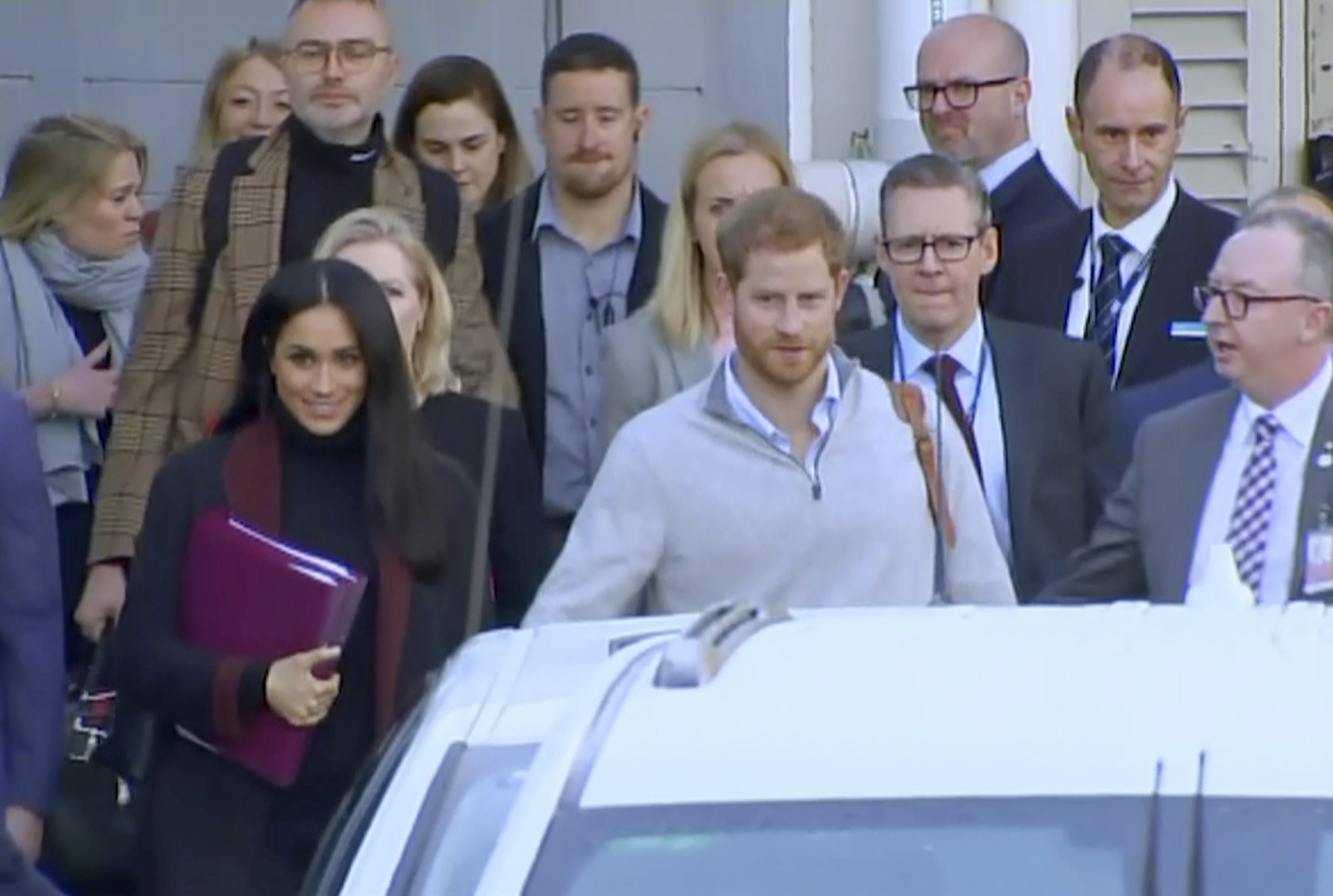 Meghan and Harry arrive in Australia