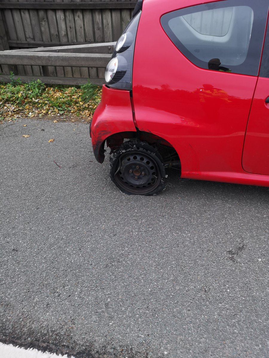 The red Citroen was being driven on a metal wheel rim (North West Motorway Police/PA)