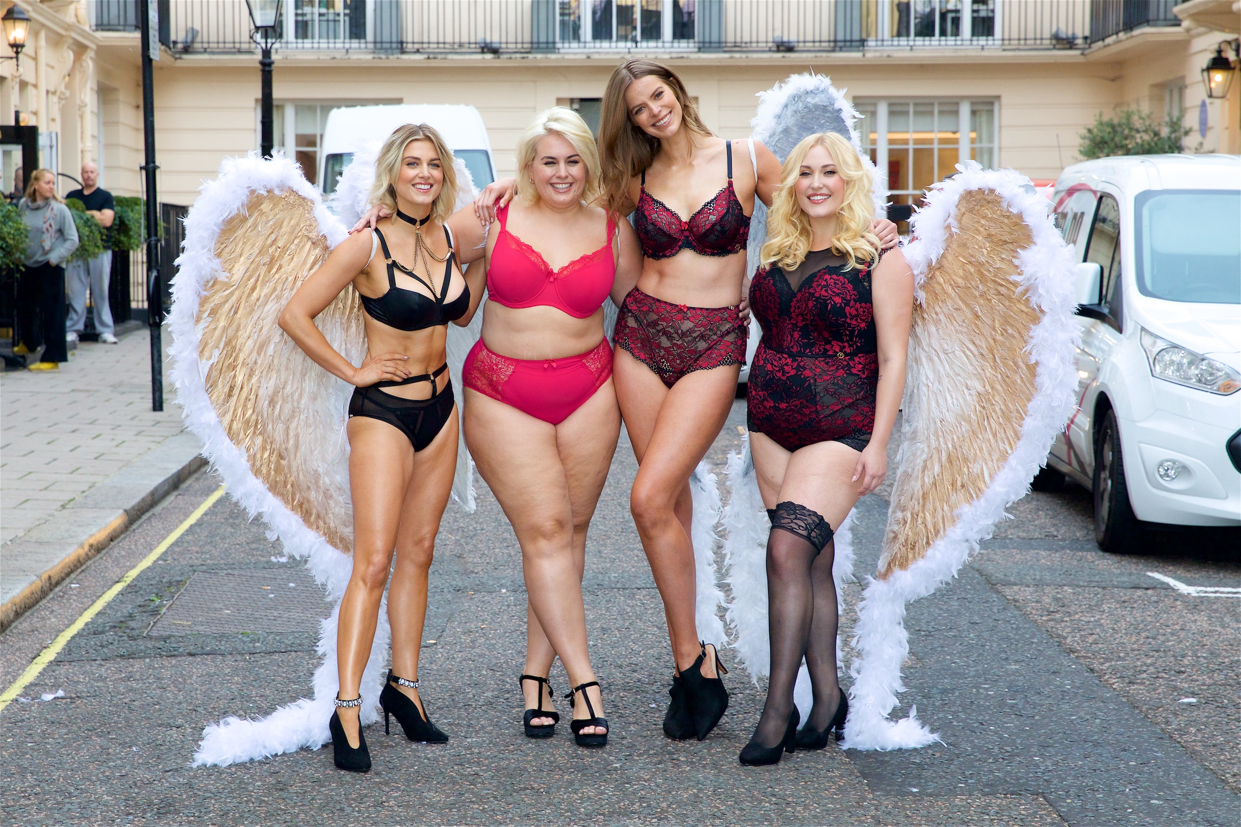 From left: Ashley James, Felicity Hayward, Robyn Lawley and Hayley Hasselhoff