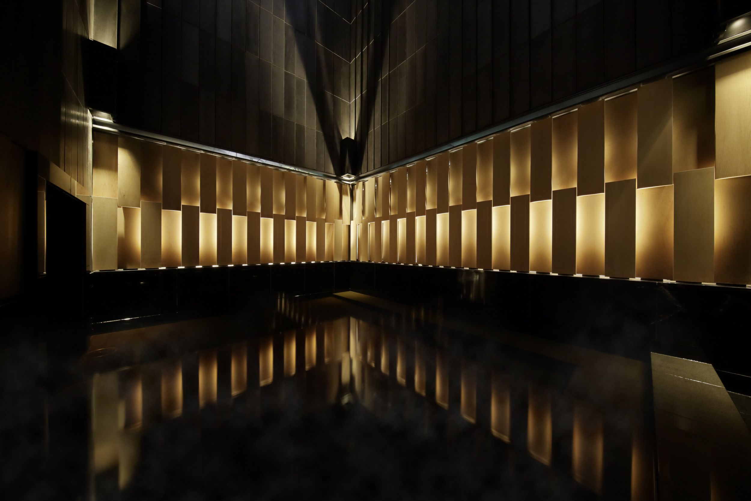 The 17th floor hot spring in Hoshinoya Tokyo (Hoshinoya / PA)