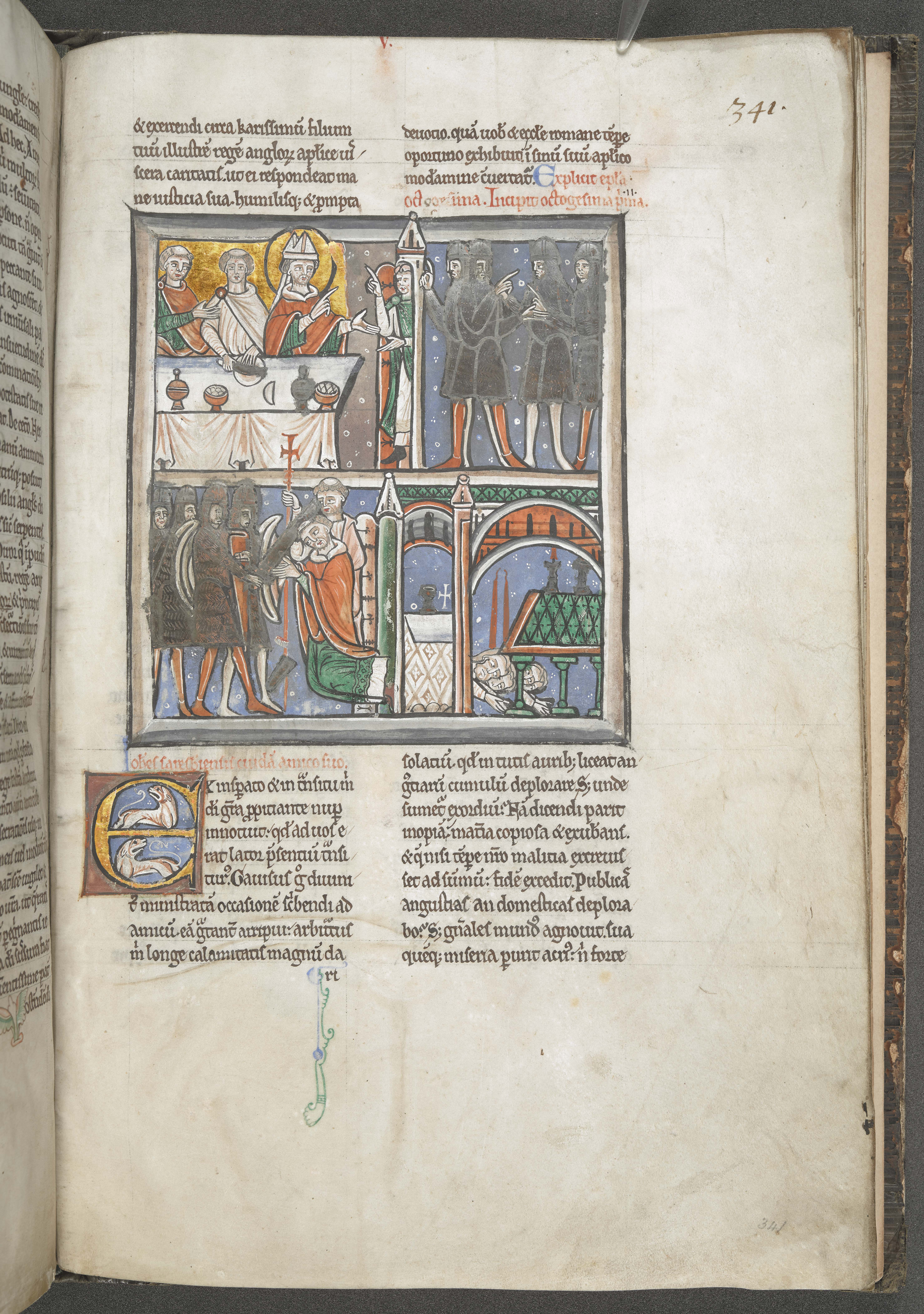 Collection of St Thomas Becket's letters including the earliest depiction of Becket's martyrdom