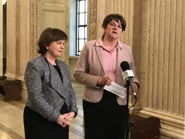 Arlene Foster wants to get rid of the Irish backstop