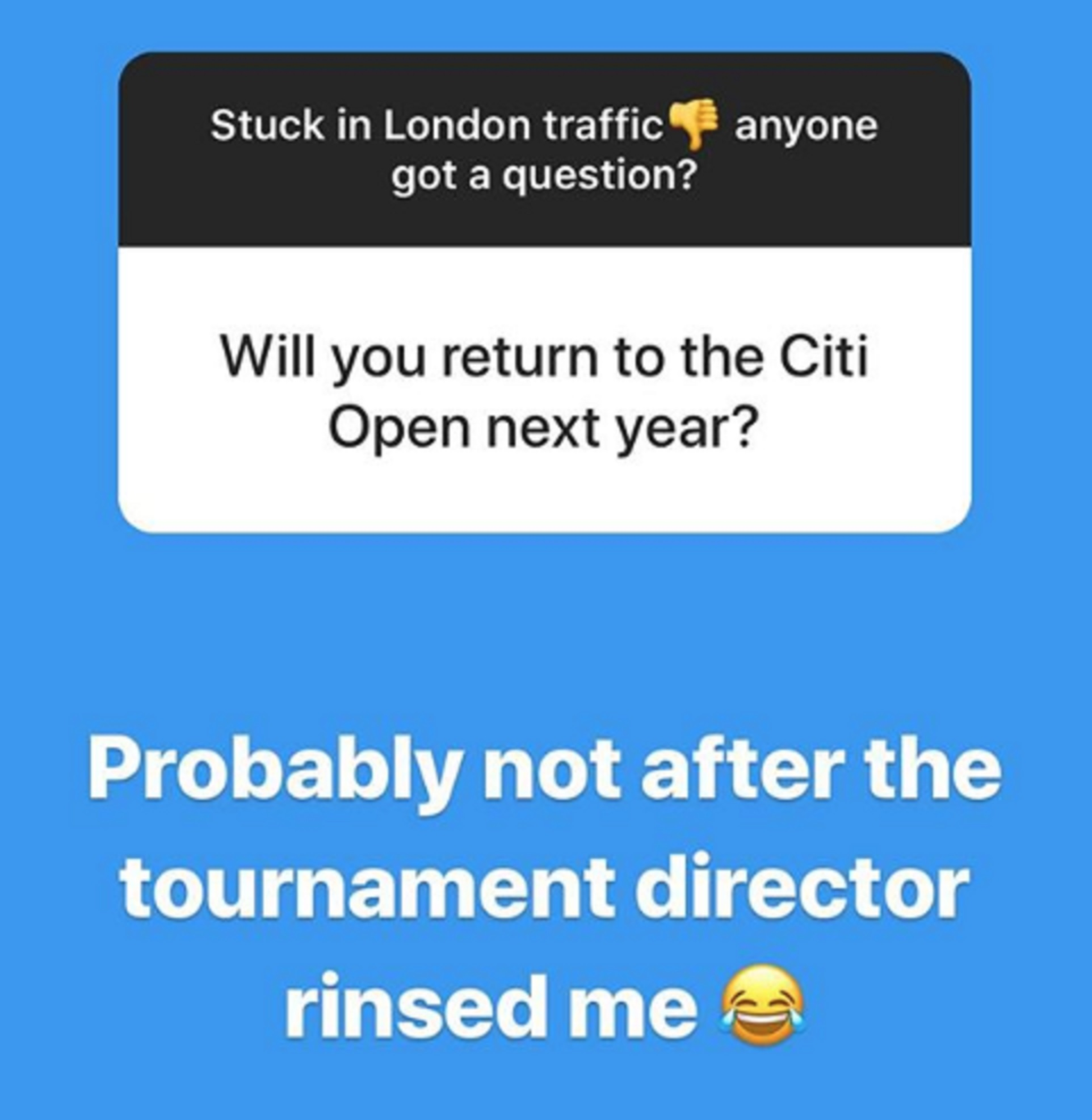A screen grab from Andy Murray's Instagram Stories