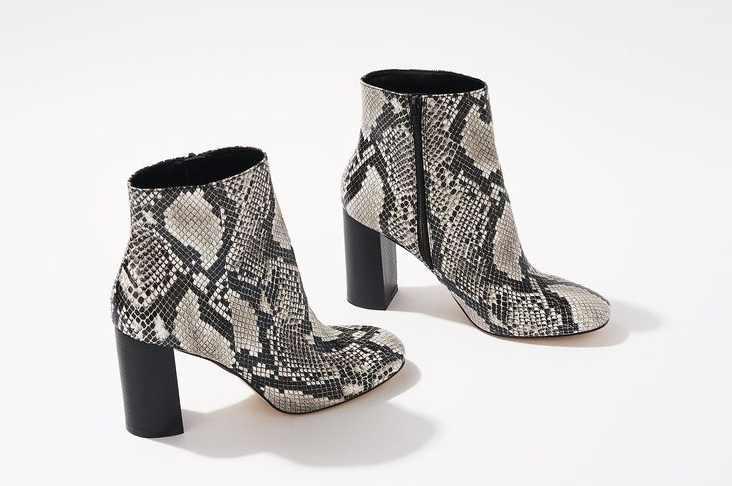 snakeskin boots shown on Pinterest