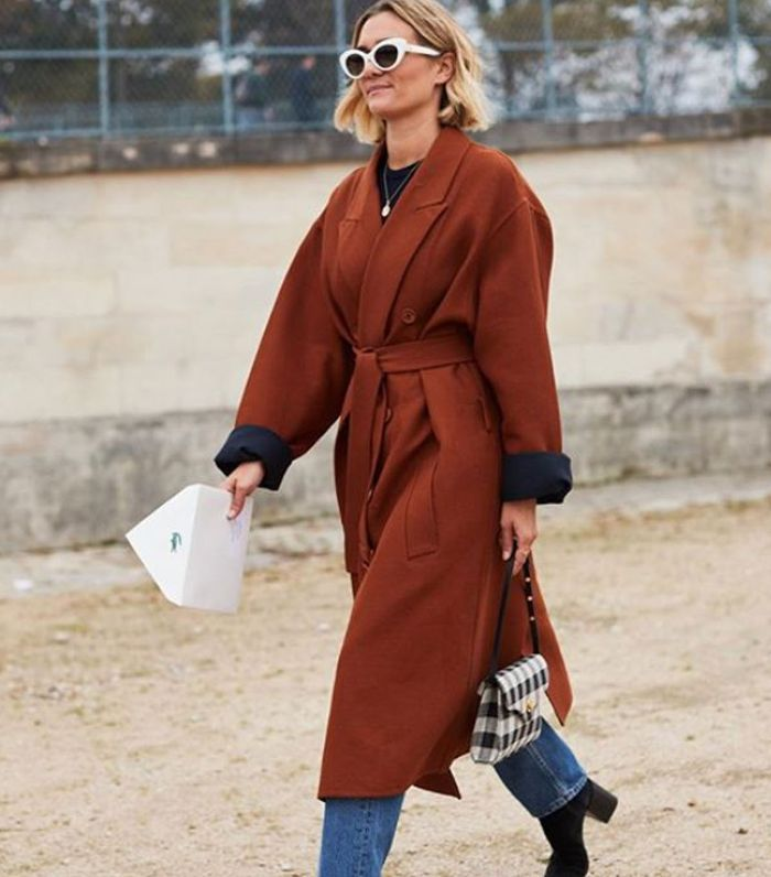 a robe silhouette outfit shown on Pinterest