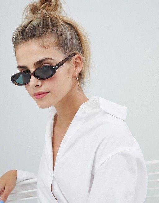 oval sunglasses shown on Pinterest