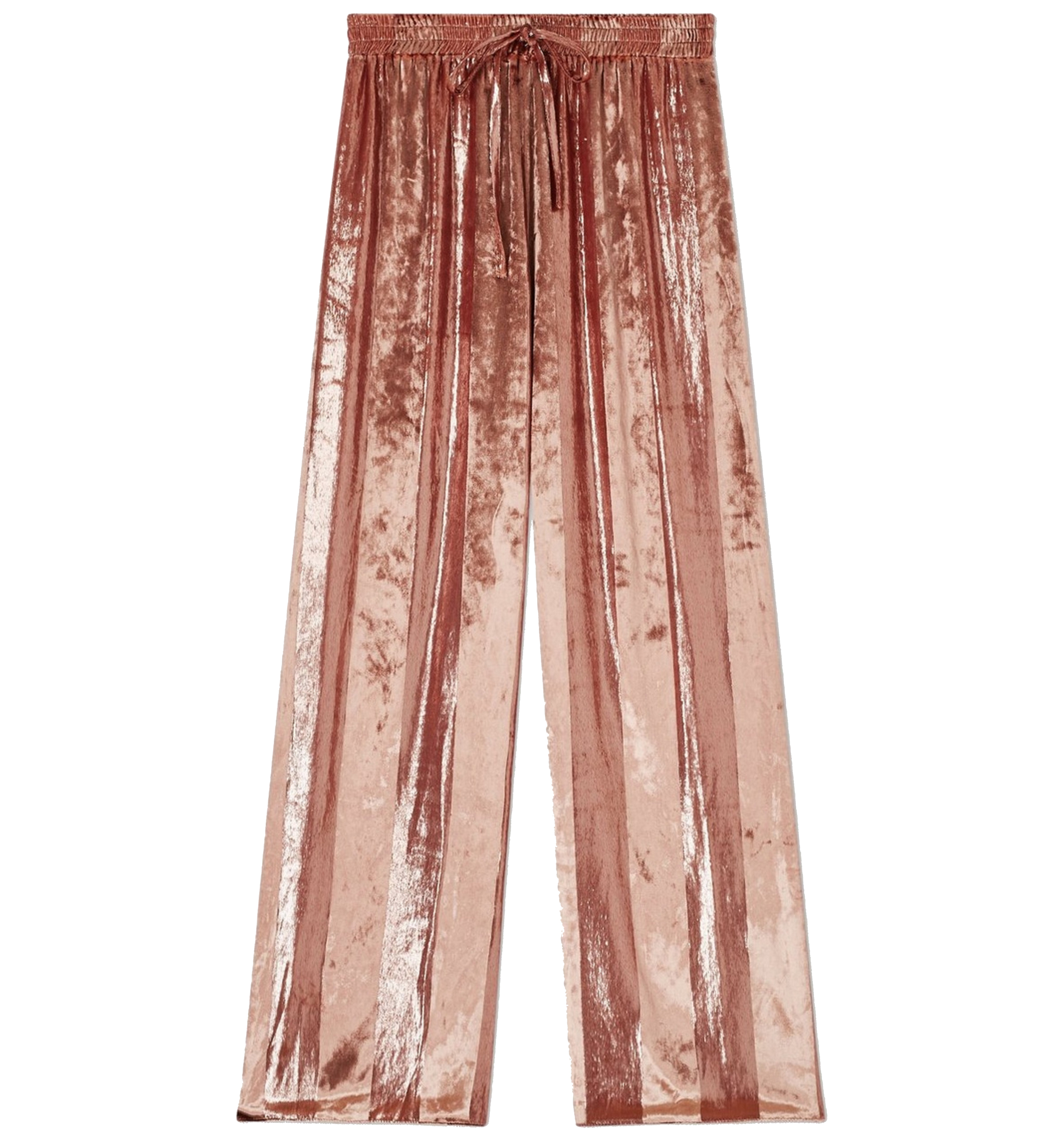 Miss Selfridge Pink Velvet Stripe Wide Leg Trousers