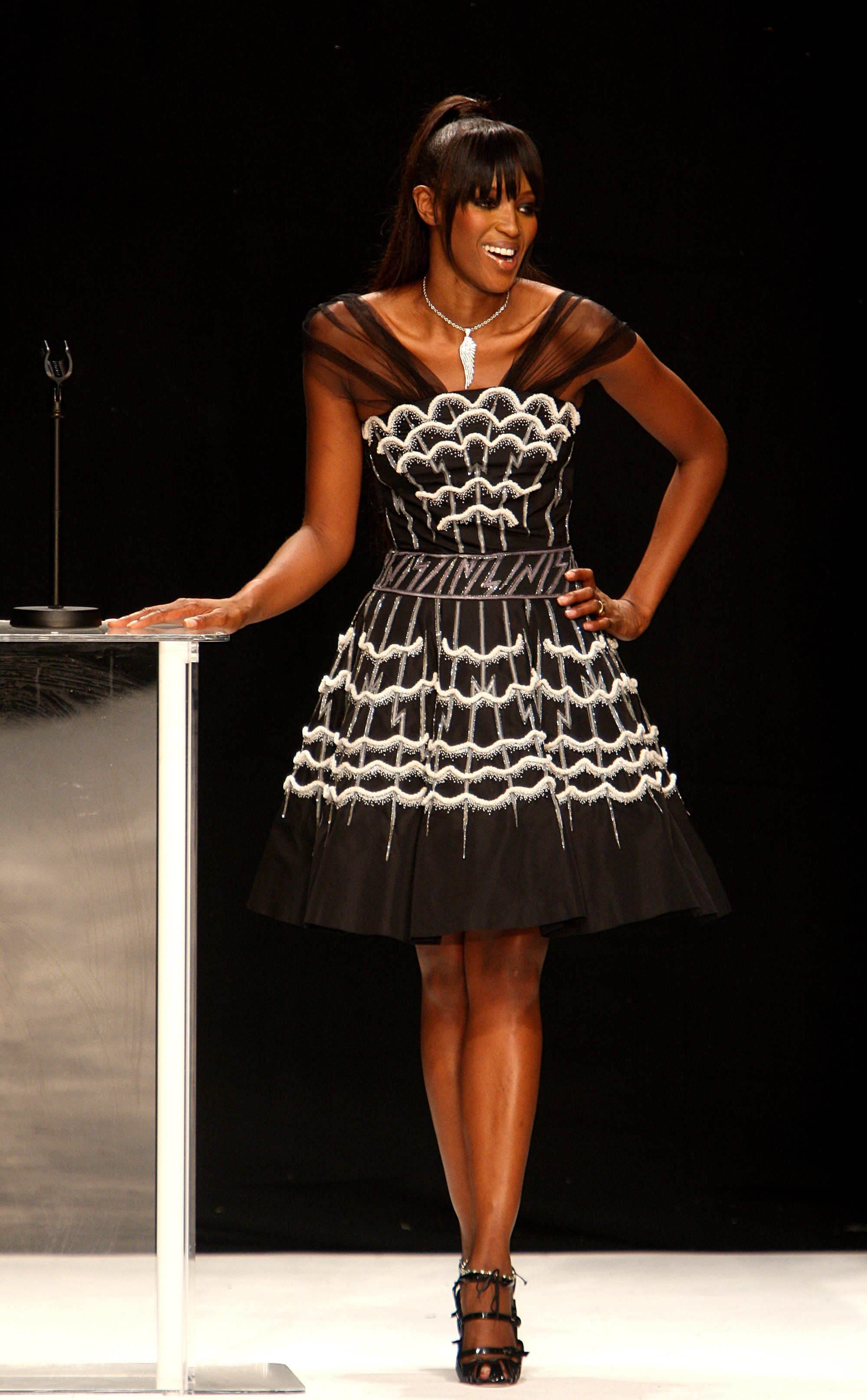 Campbell at the 2007 Fashion for Relief show
