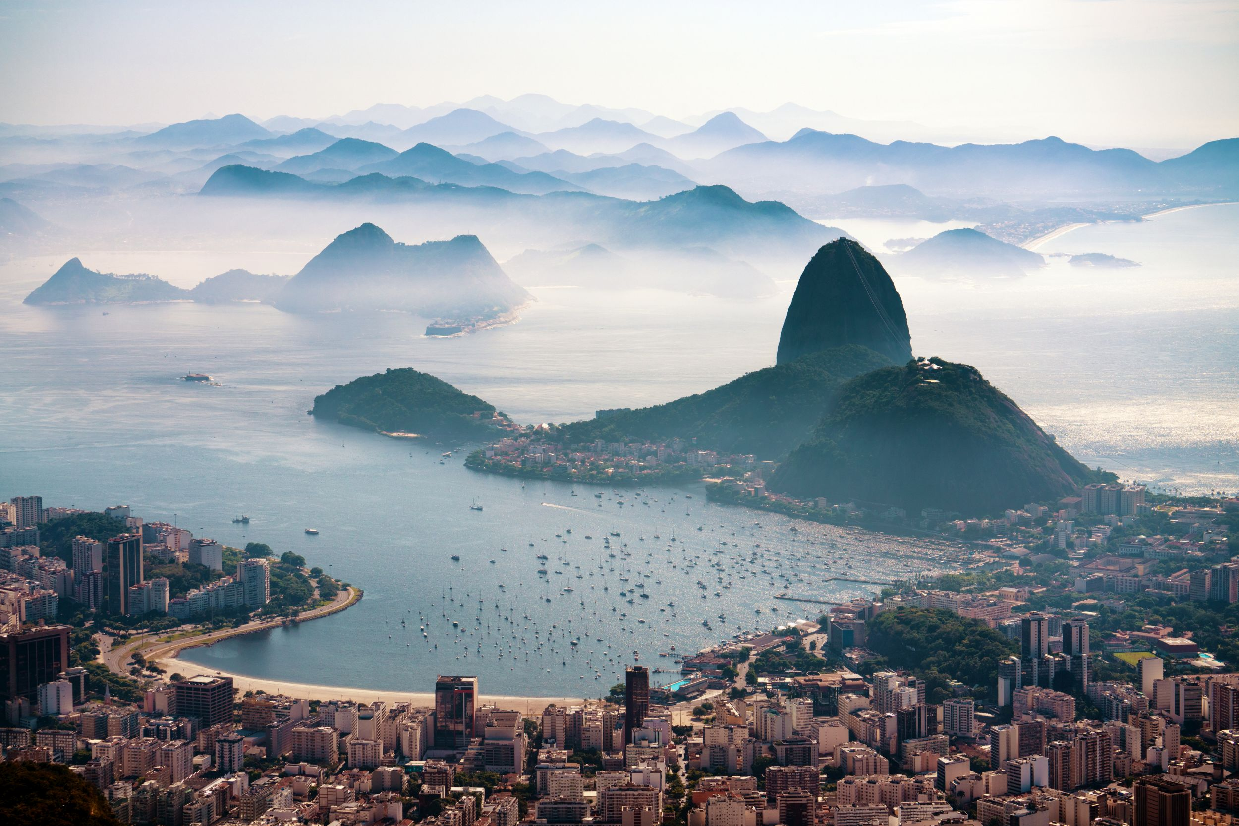 The Sugarloaf mountain in morning mist and Botafogo bay (Thinkstock/PA)