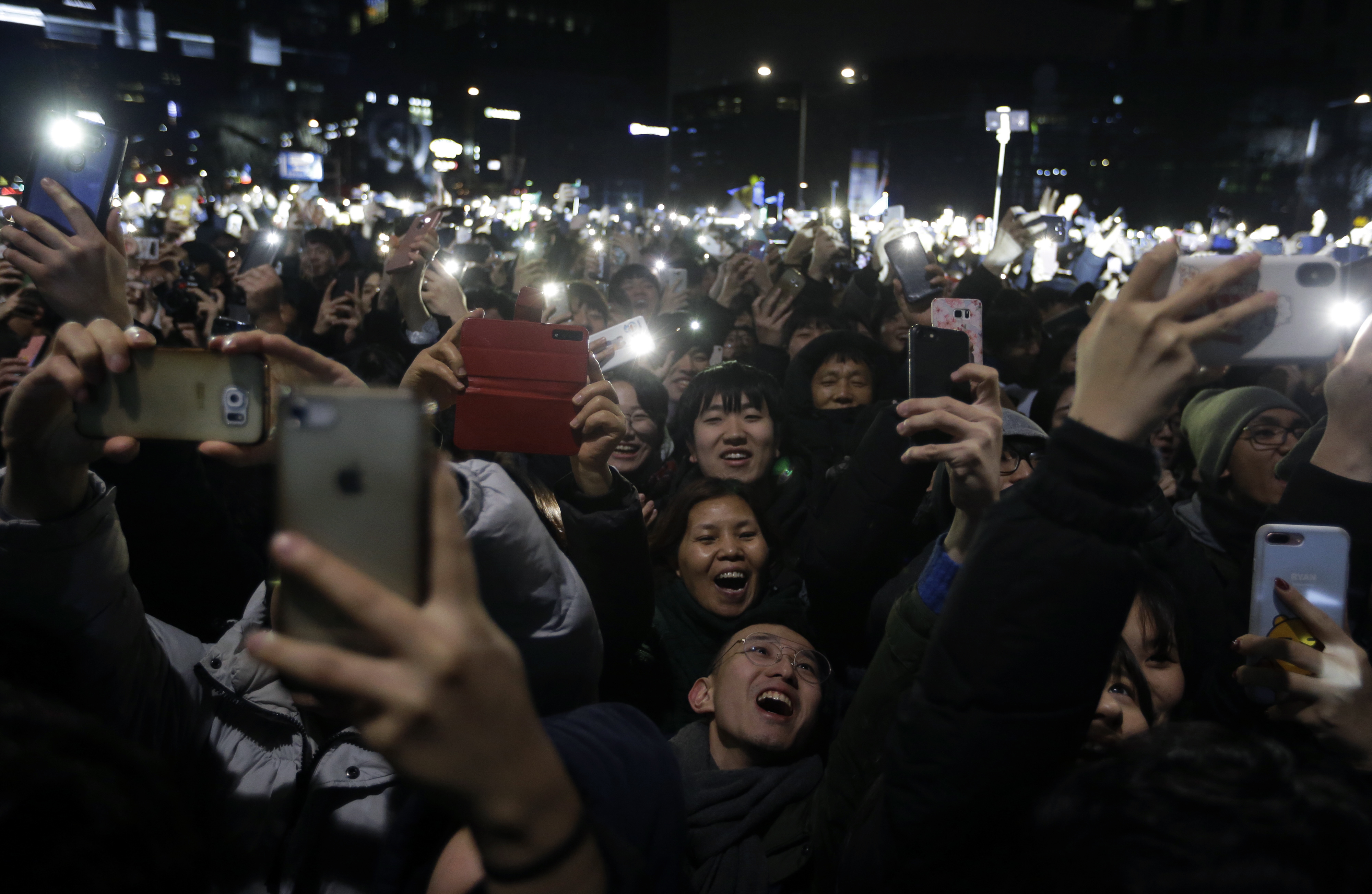 People attend New Year celebrations in Seoul