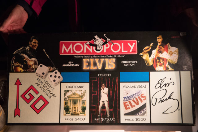 An Elvis Monopoly board