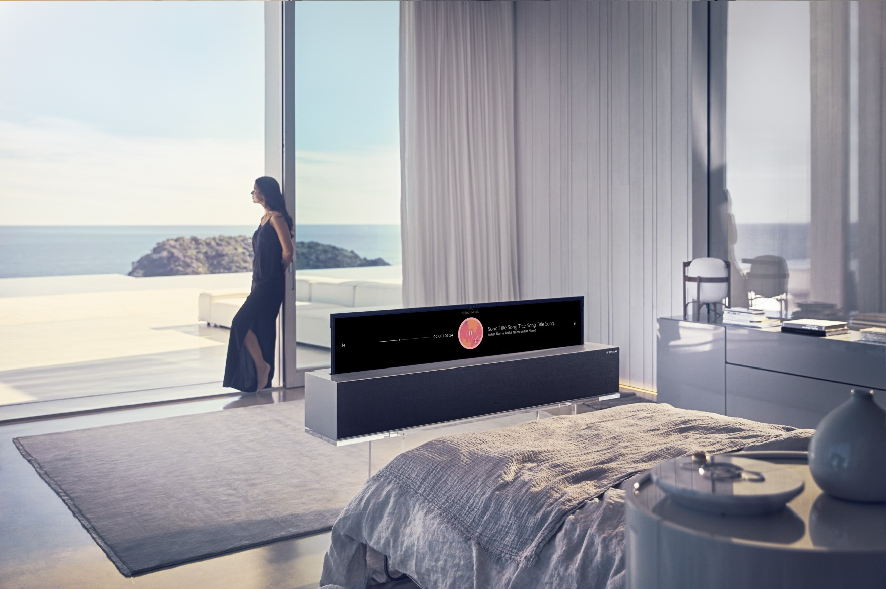 The rollable television will be on display at the CES technology show in Las Vegas