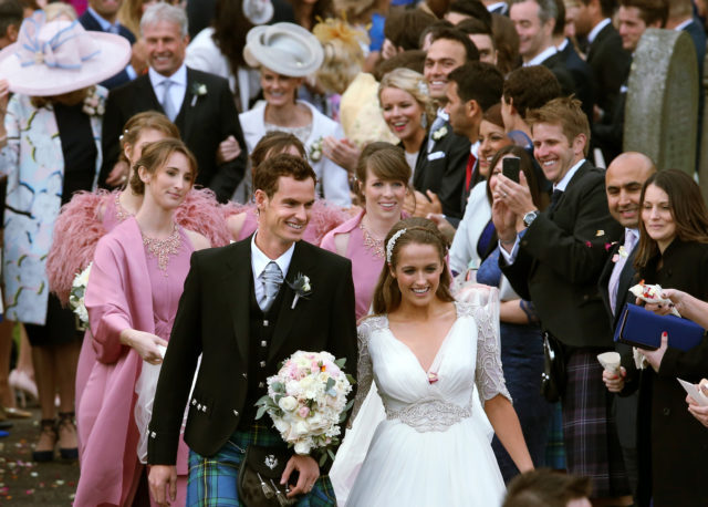 Sir Andy married Kim Sears at Dunblane Cathedral in 2015