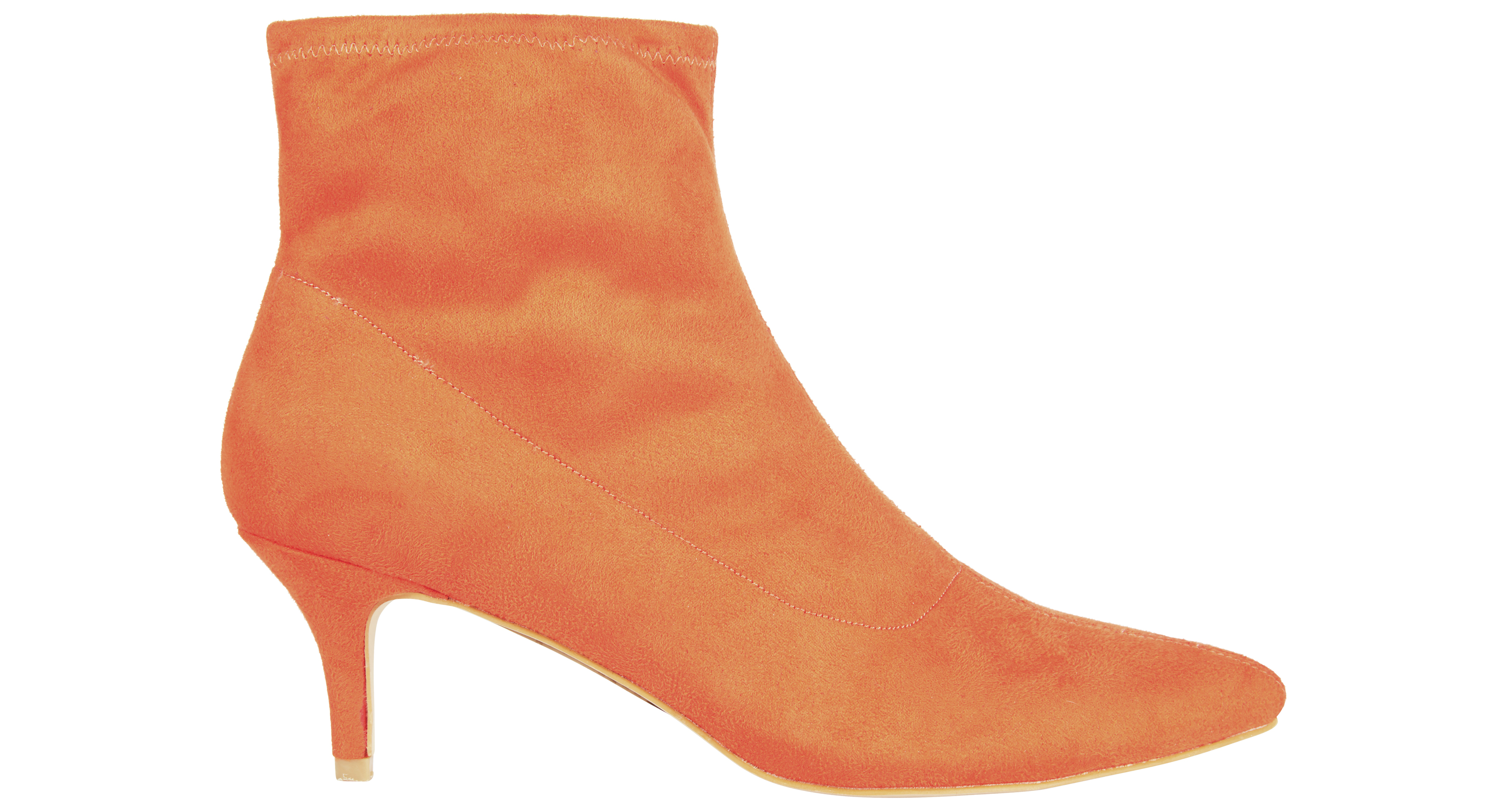 Tu at Sainsbury's Online Exclusive Orange Sock Ankle Boots