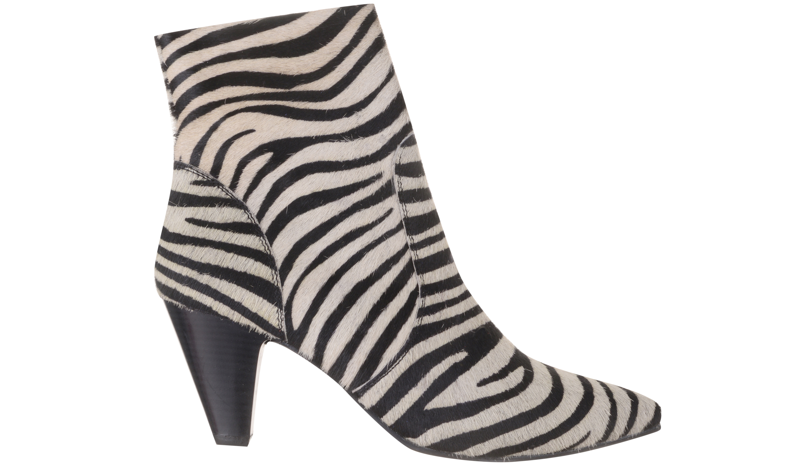 Dorothy Perkins Multi Coloured Zebra Design Leather Attitude Ankle Boots