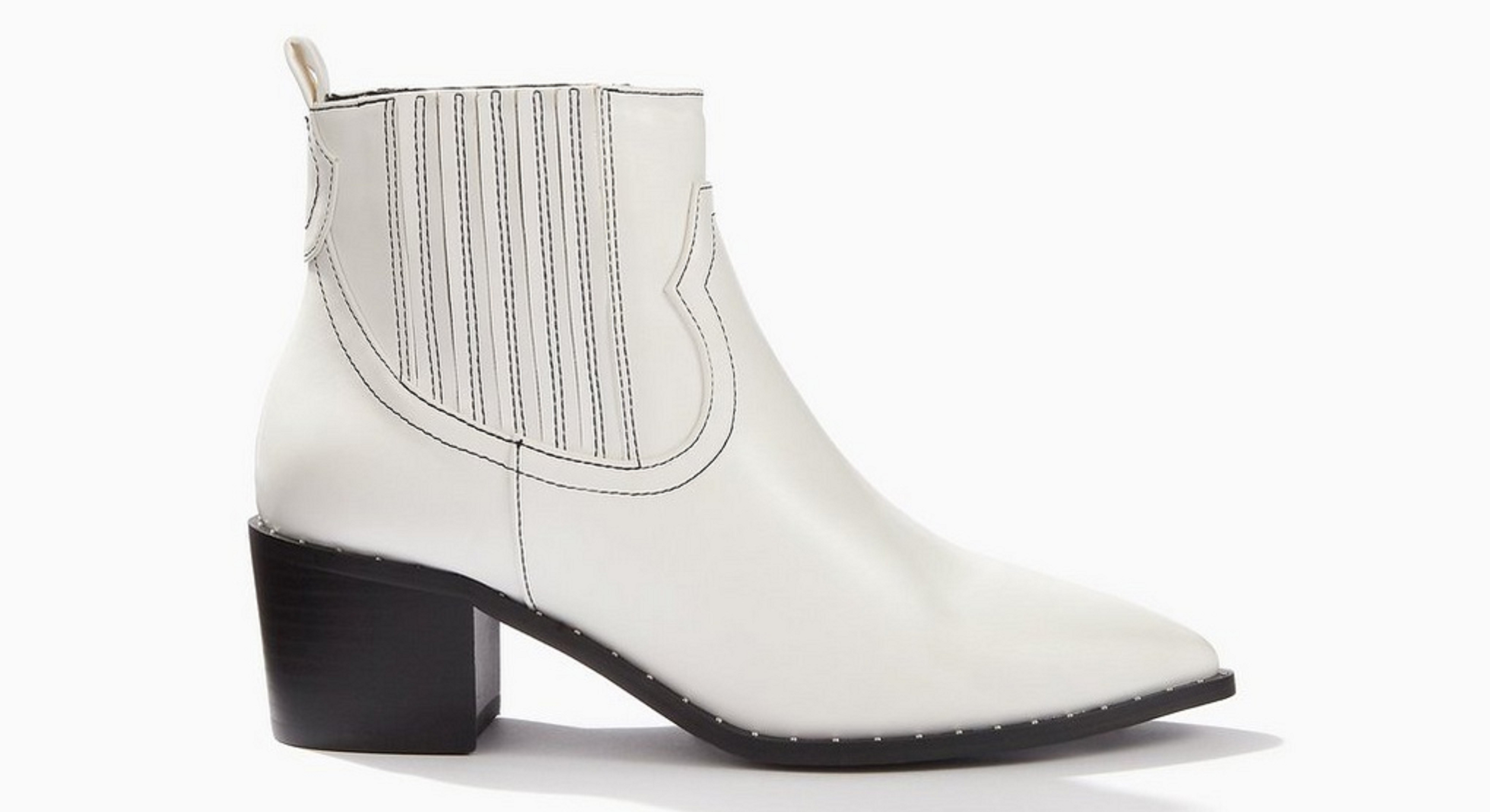 Miss Selfridge Brooke White Western Boots