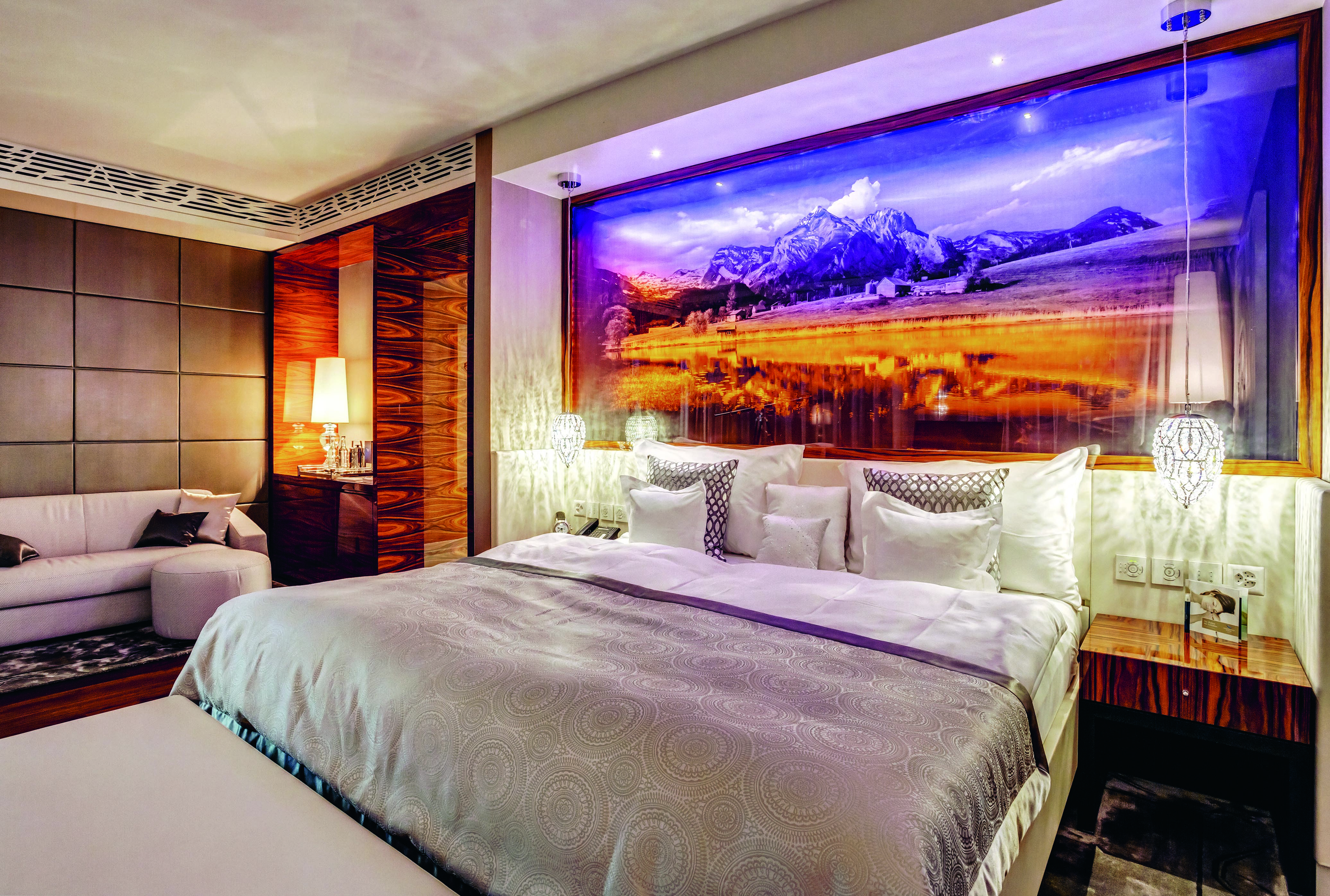 A suite at the Grand Resort Bad Ragaz