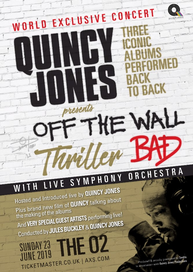 Off The Wall, Thriller and Bad: Live In Concert with Quincy Jones