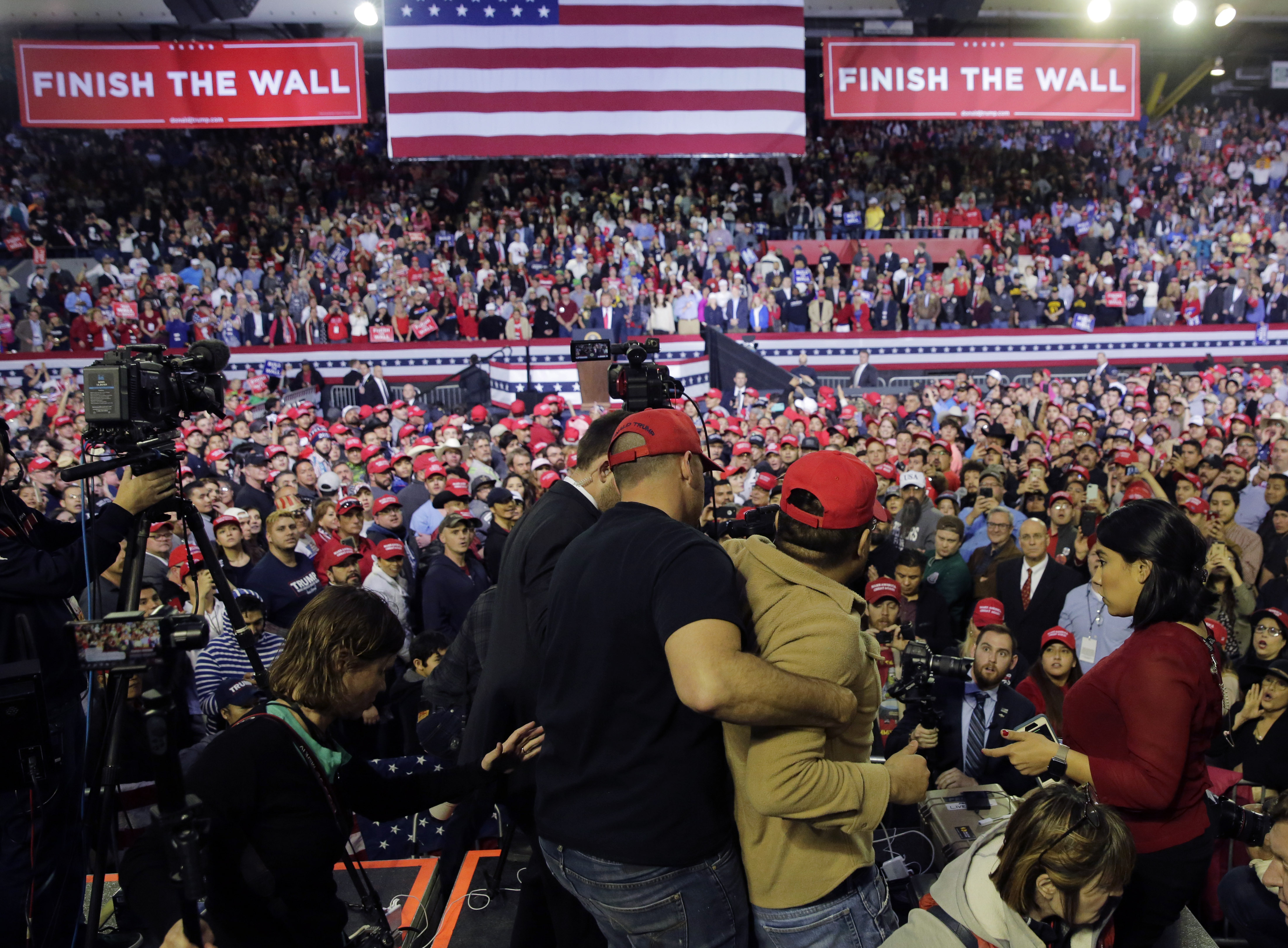 BBC cameraman 'violently pushed and shoved' during Trump rally