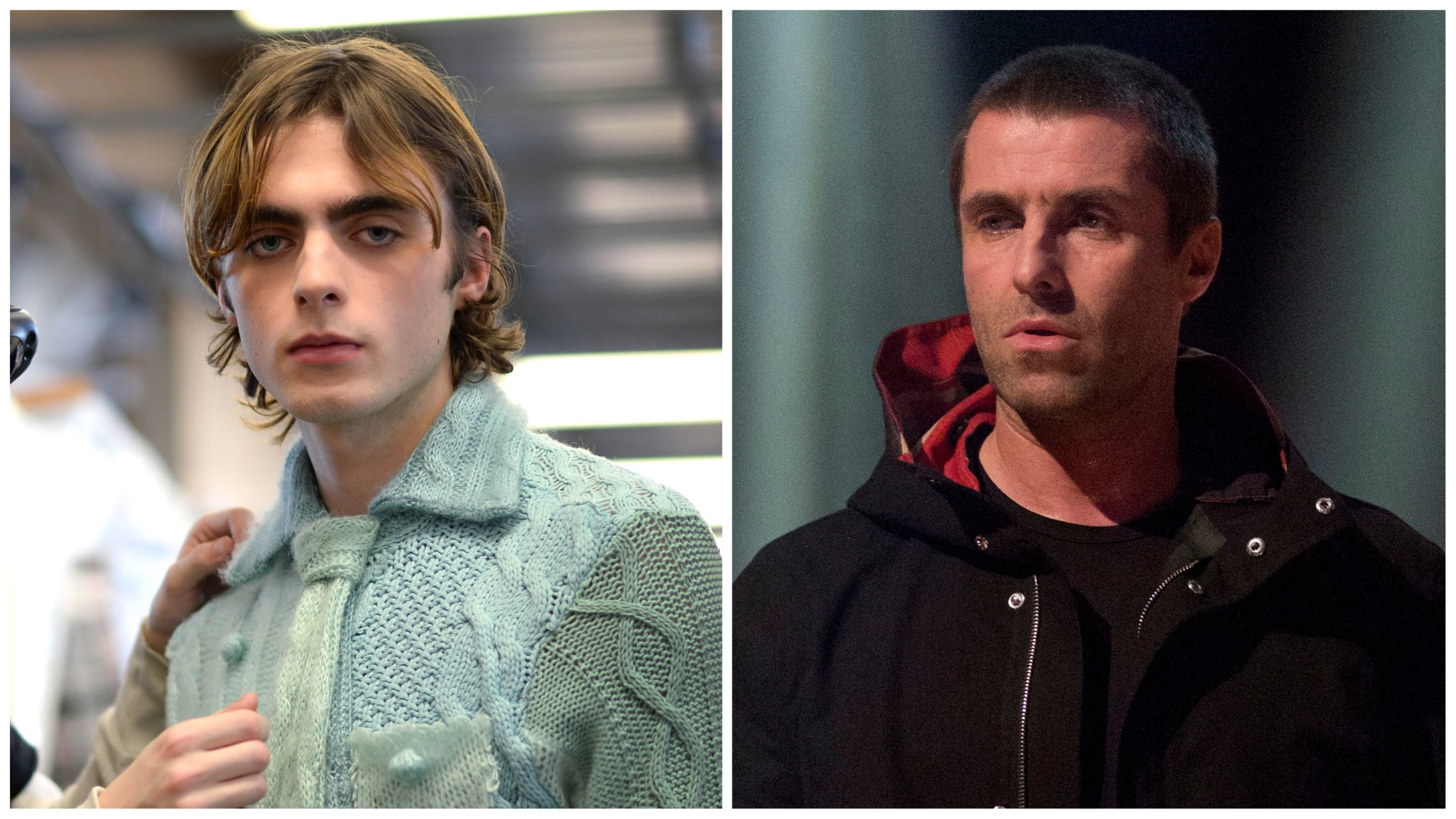 Liam Gallagher's lookalike son Lennon models futuristic ...