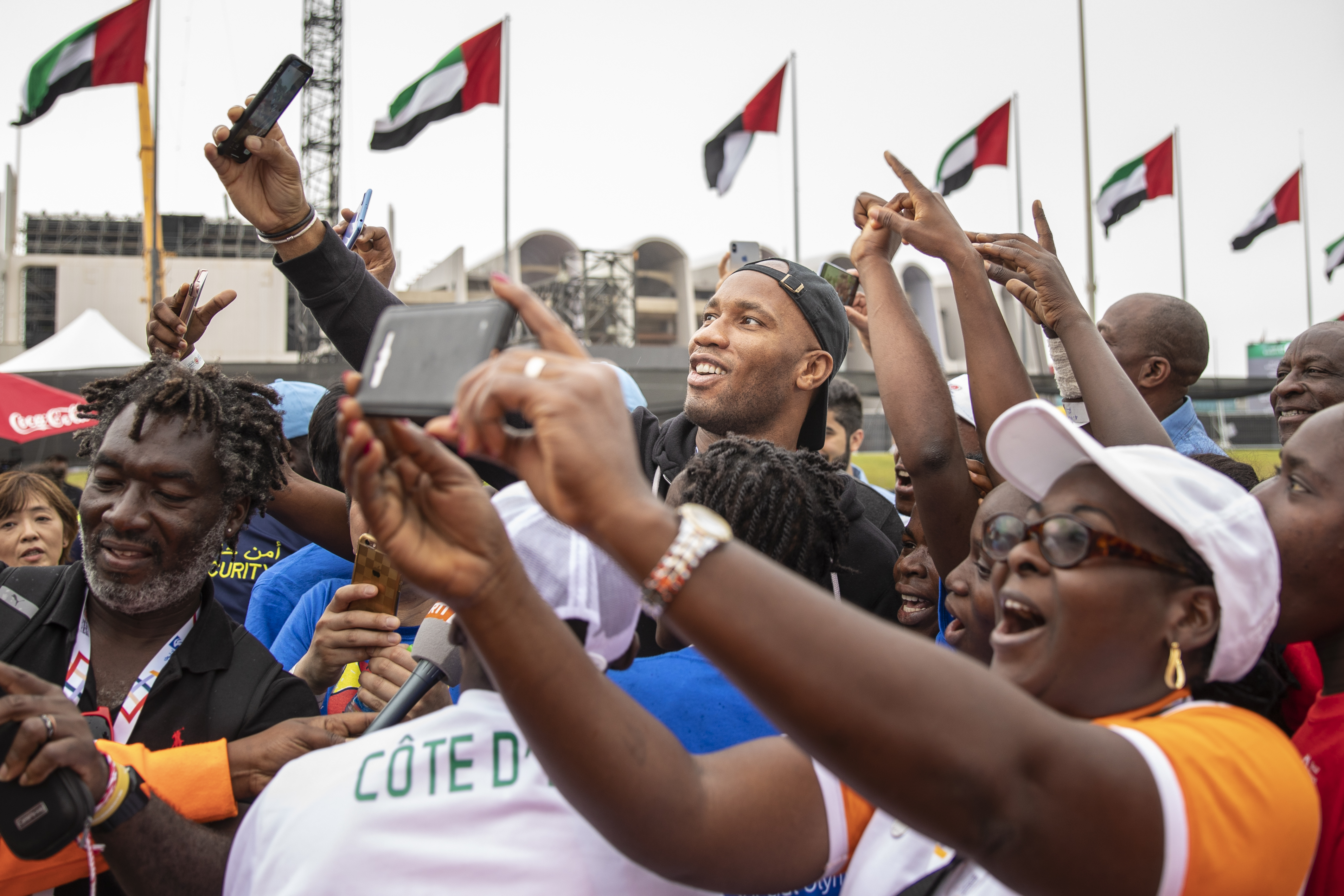 Didier Drogba participates in a Unified Sports Experience in Abu Dhabi