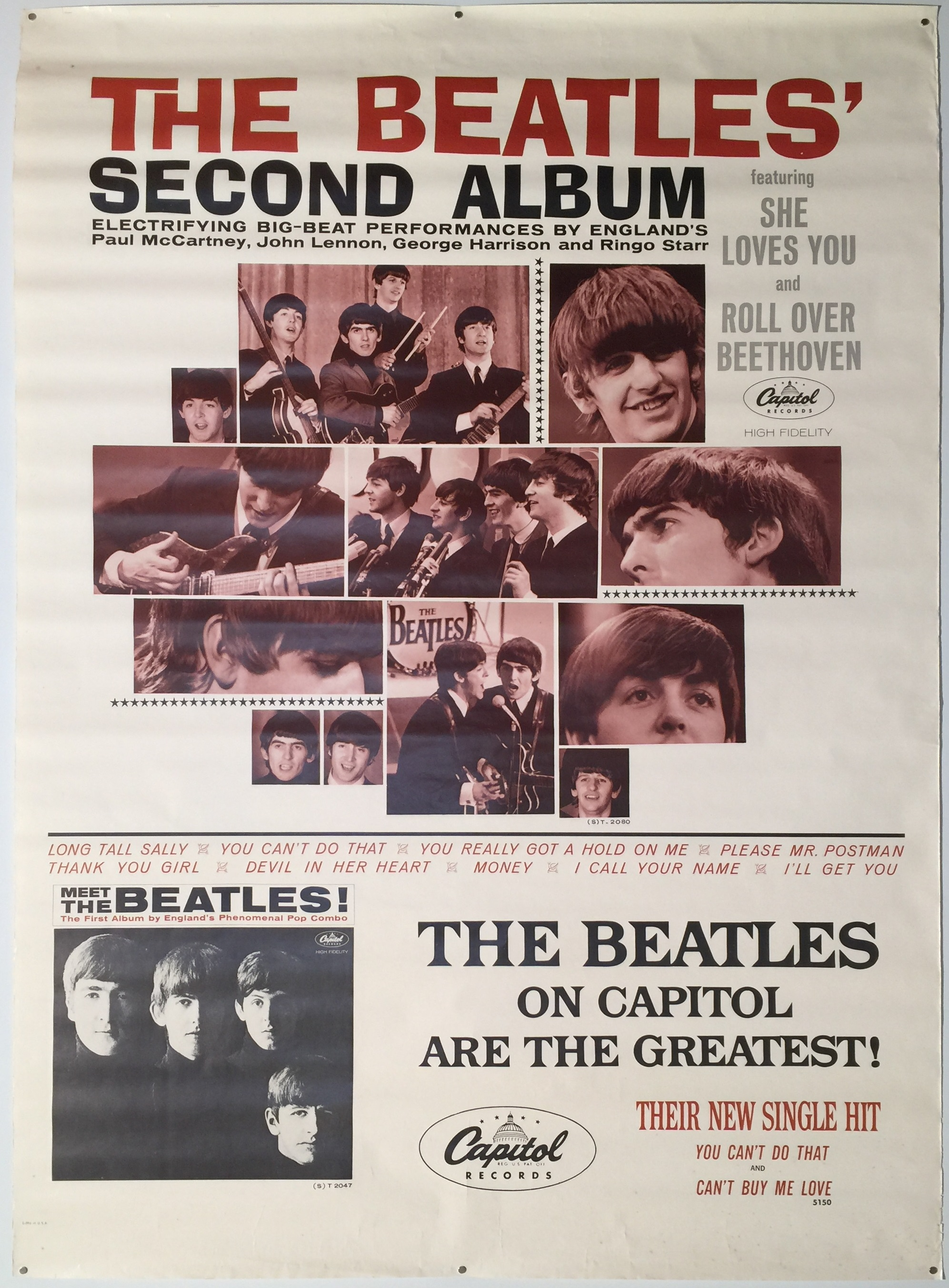 A poster for the Beatles which is going under-the-hammer